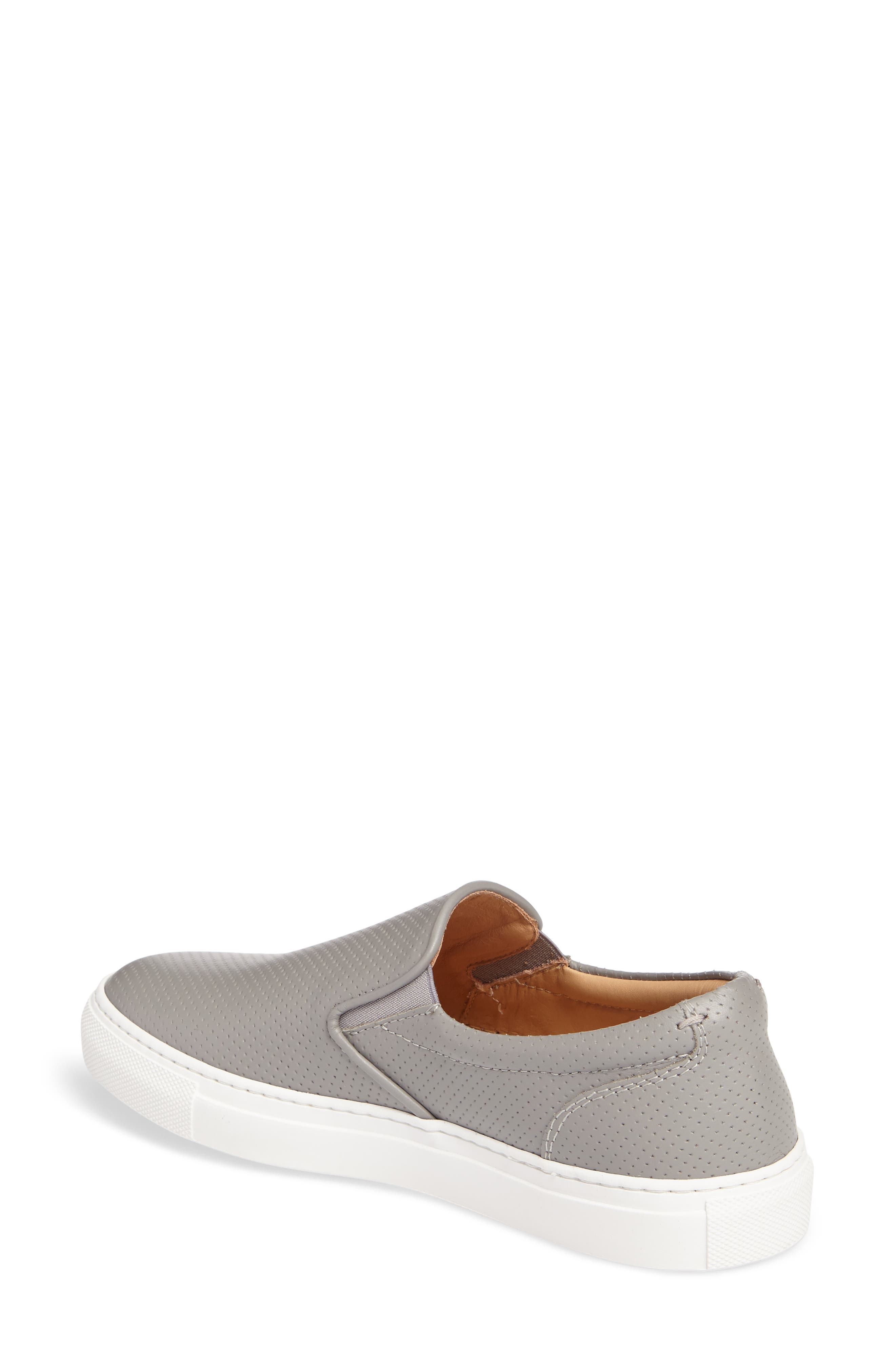 Wooster Slip-On Sneaker,                             Alternate thumbnail 2, color,                             GREY PERFORATED