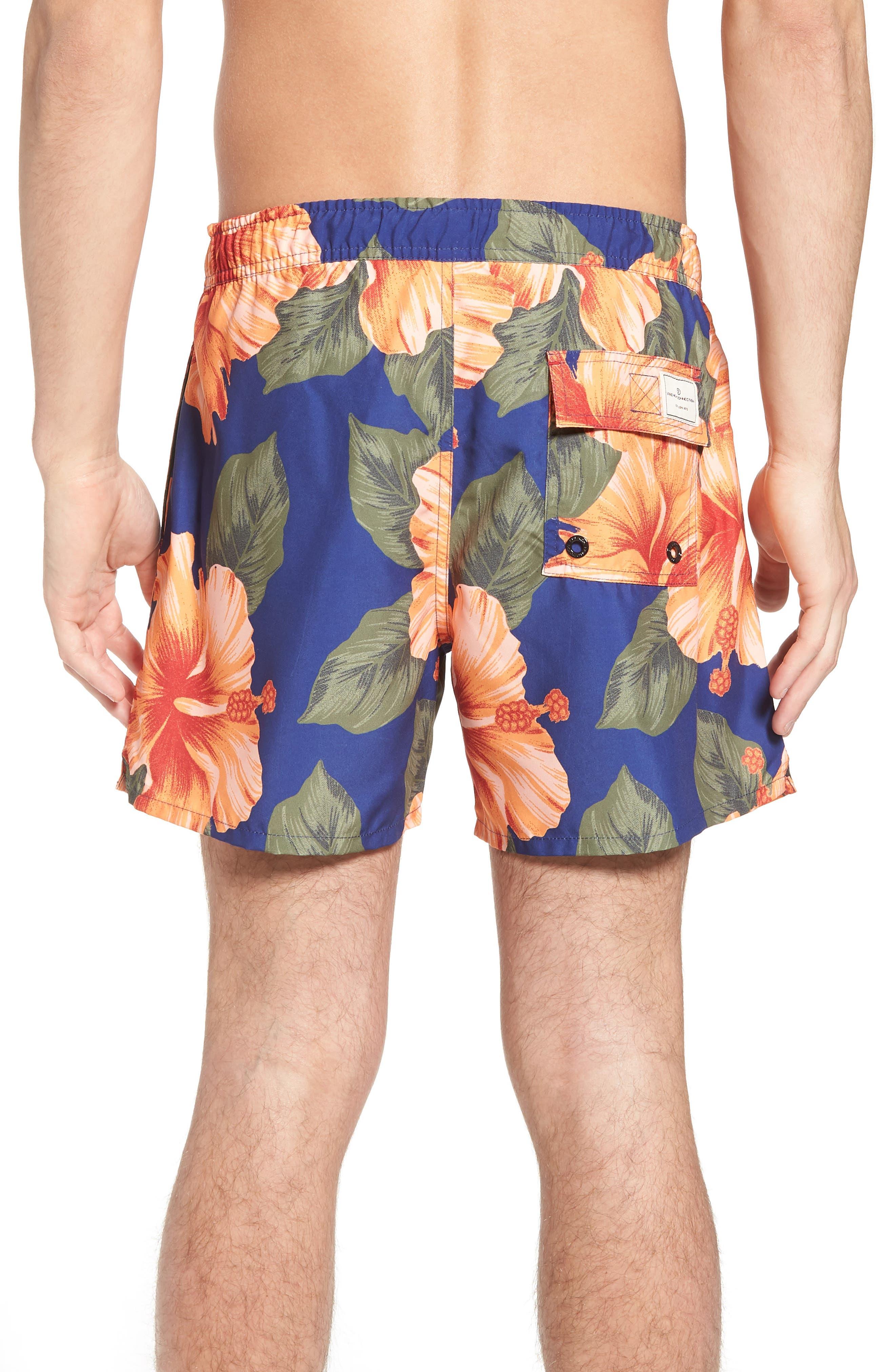 Wela Hawaiian Slim Fit Swim Trunks,                             Alternate thumbnail 2, color,                             401