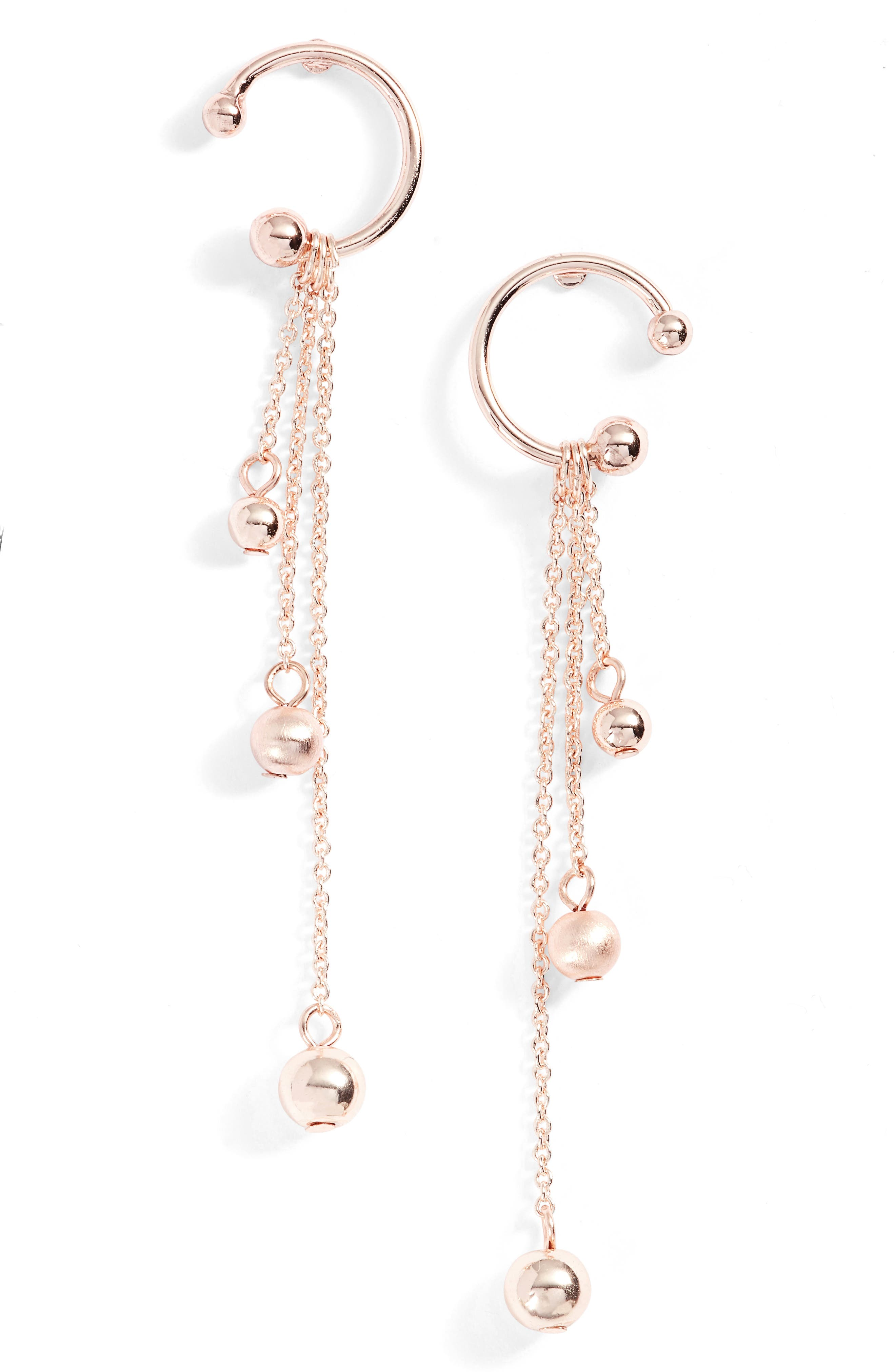 Linear Drop Earrings,                             Main thumbnail 2, color,