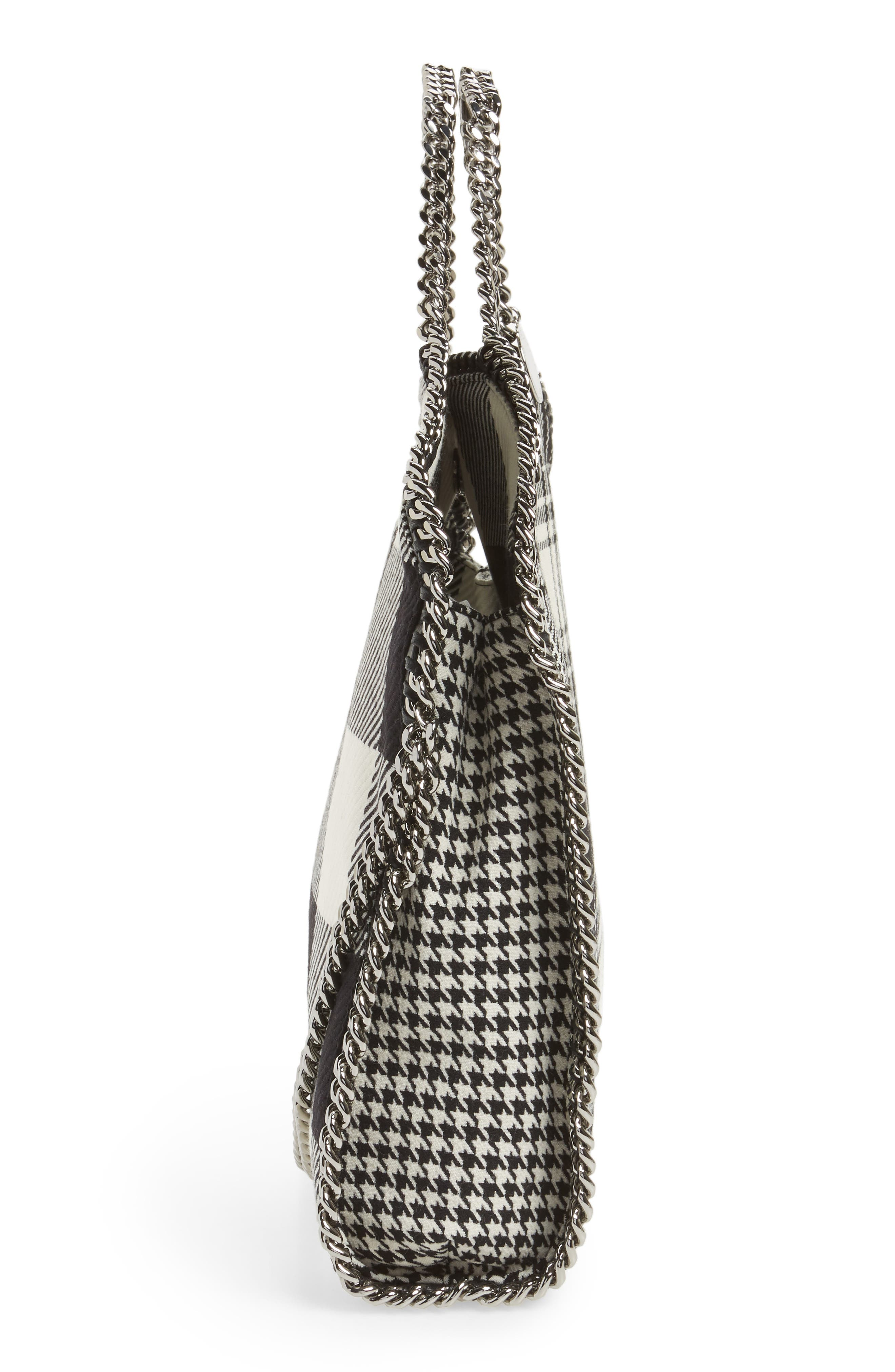 Falabella - Shaggy Deer Flannel Foldover Tote,                             Alternate thumbnail 5, color,                             001