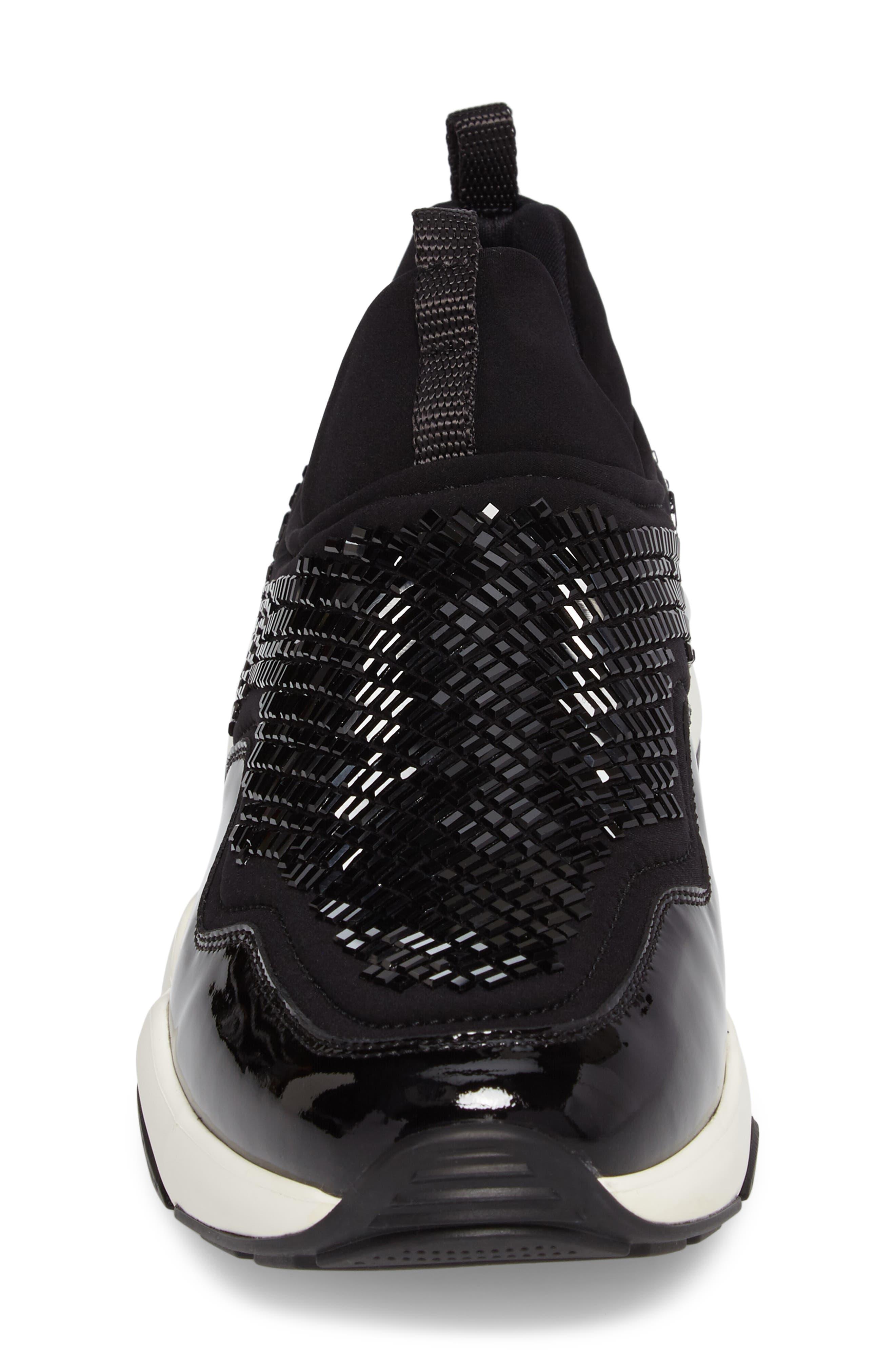 Salvatore Ferragmo Giolly Slip-On Sneaker,                             Alternate thumbnail 4, color,                             001