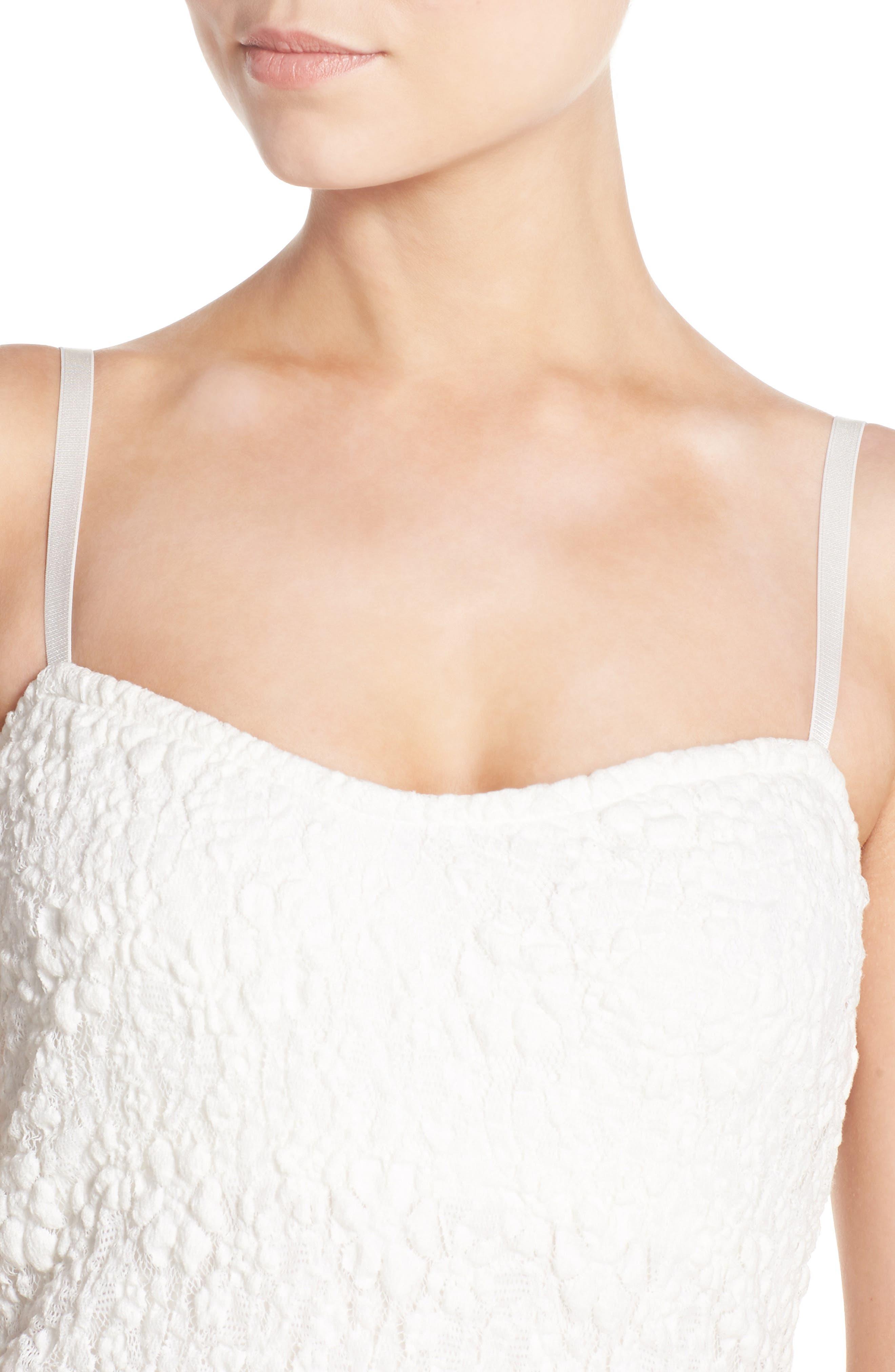 Lace Midi Dress,                             Alternate thumbnail 3, color,                             101