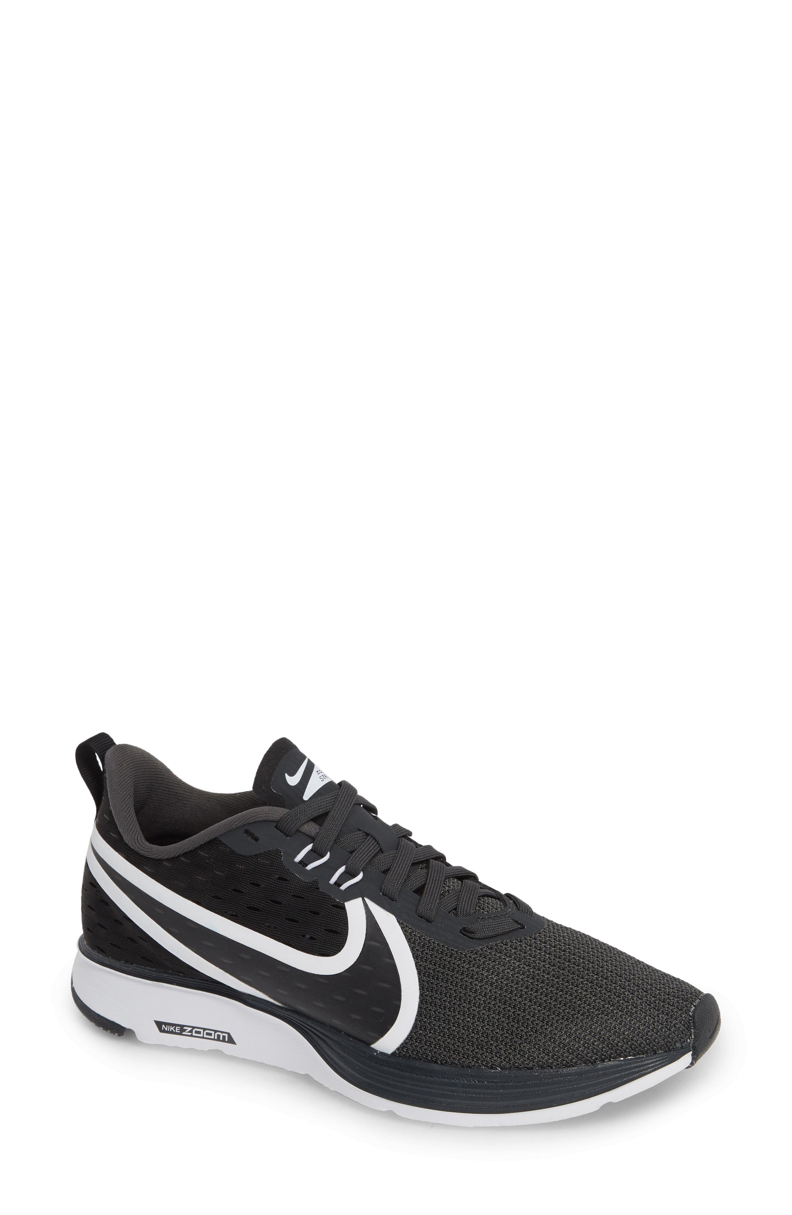 Zoom Strike 2 Running Shoe, Main, color, BLACK/ ANTHRACITE/ WHITE