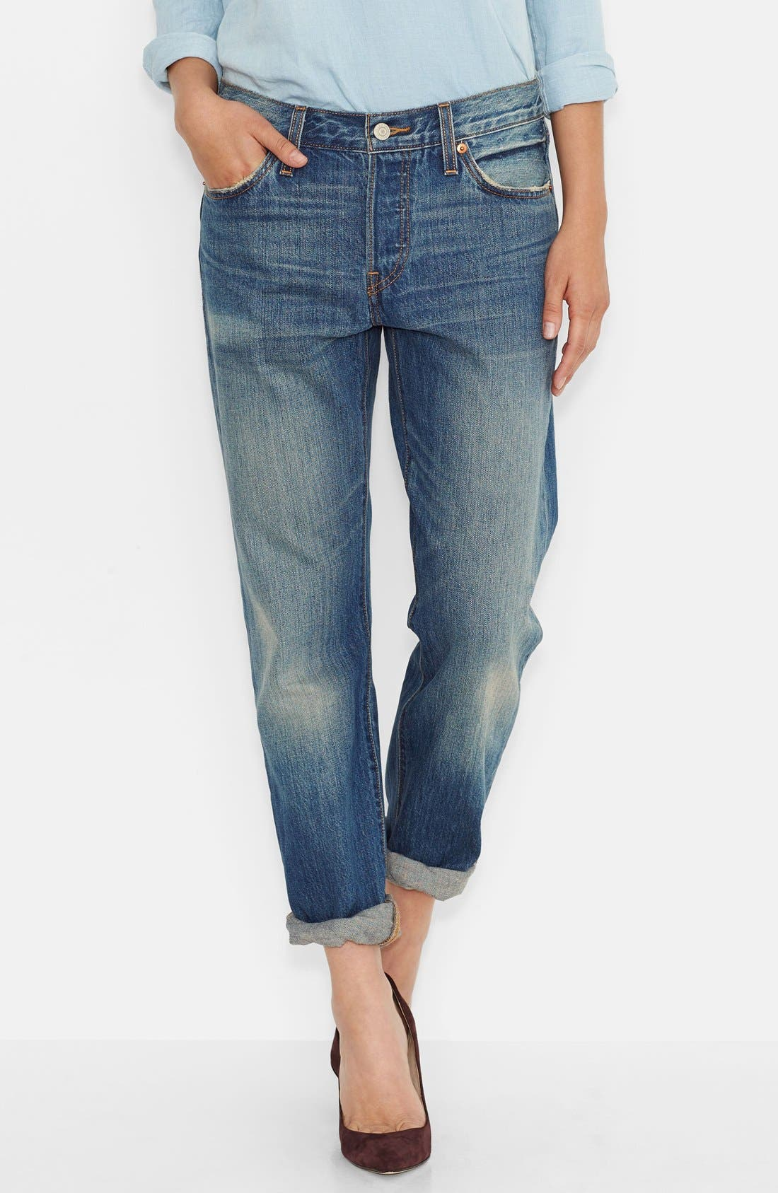'501<sup>®</sup>' Boyfriend Jeans,                             Main thumbnail 1, color,                             400