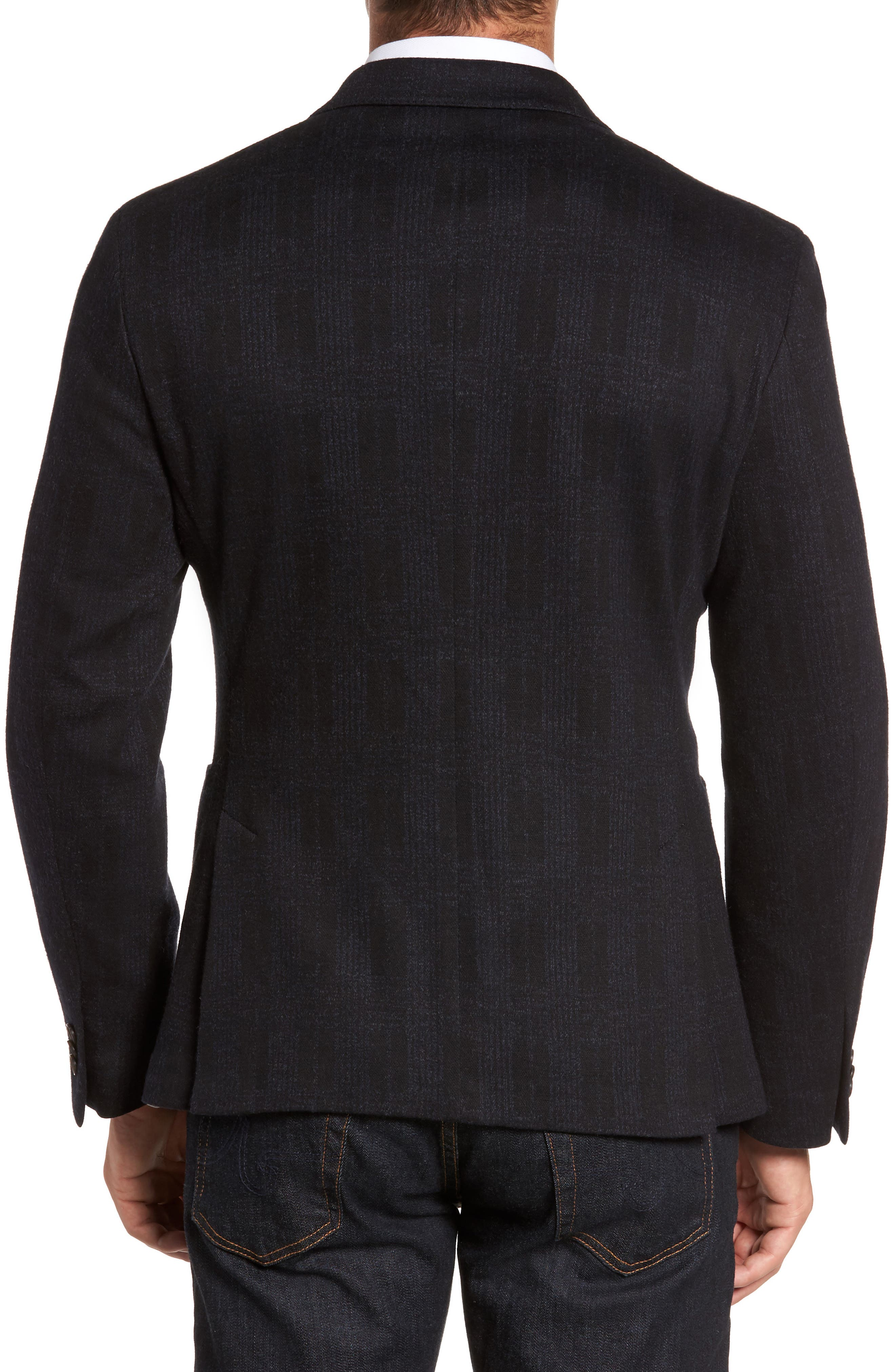 Classic Fit Jersey Double-Breasted Sport Coat,                             Alternate thumbnail 2, color,                             001