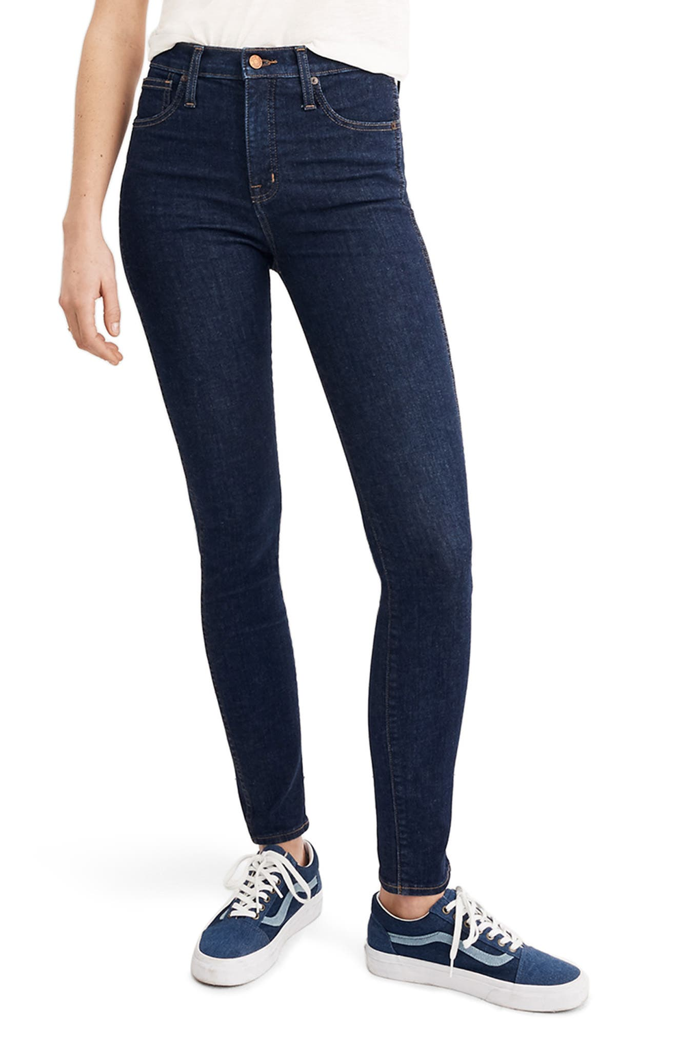 10-Inch High Waist Skinny Jeans, Main, color, 400