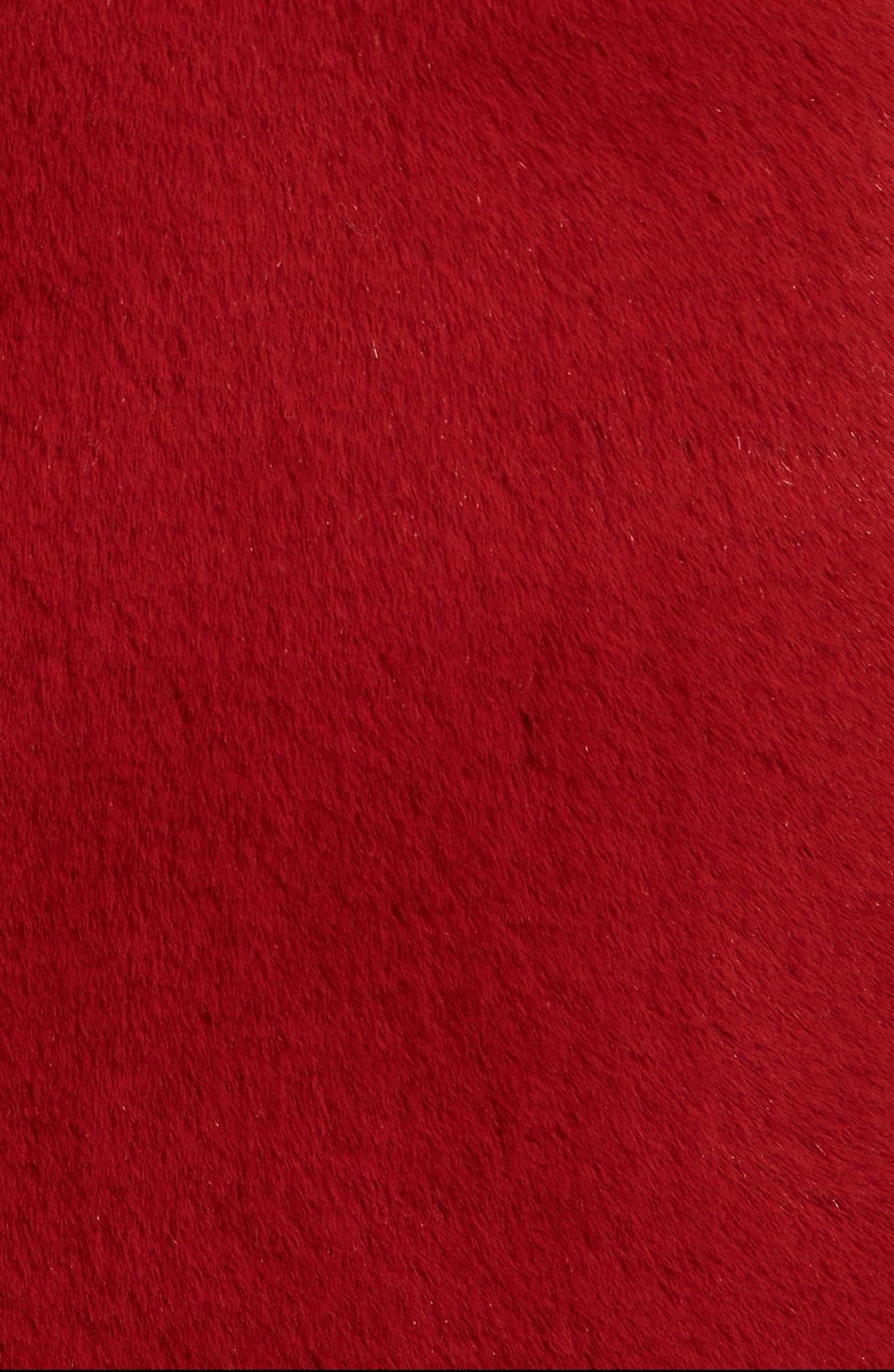 Faux Fur Reversible Coat,                             Alternate thumbnail 8, color,                             RED