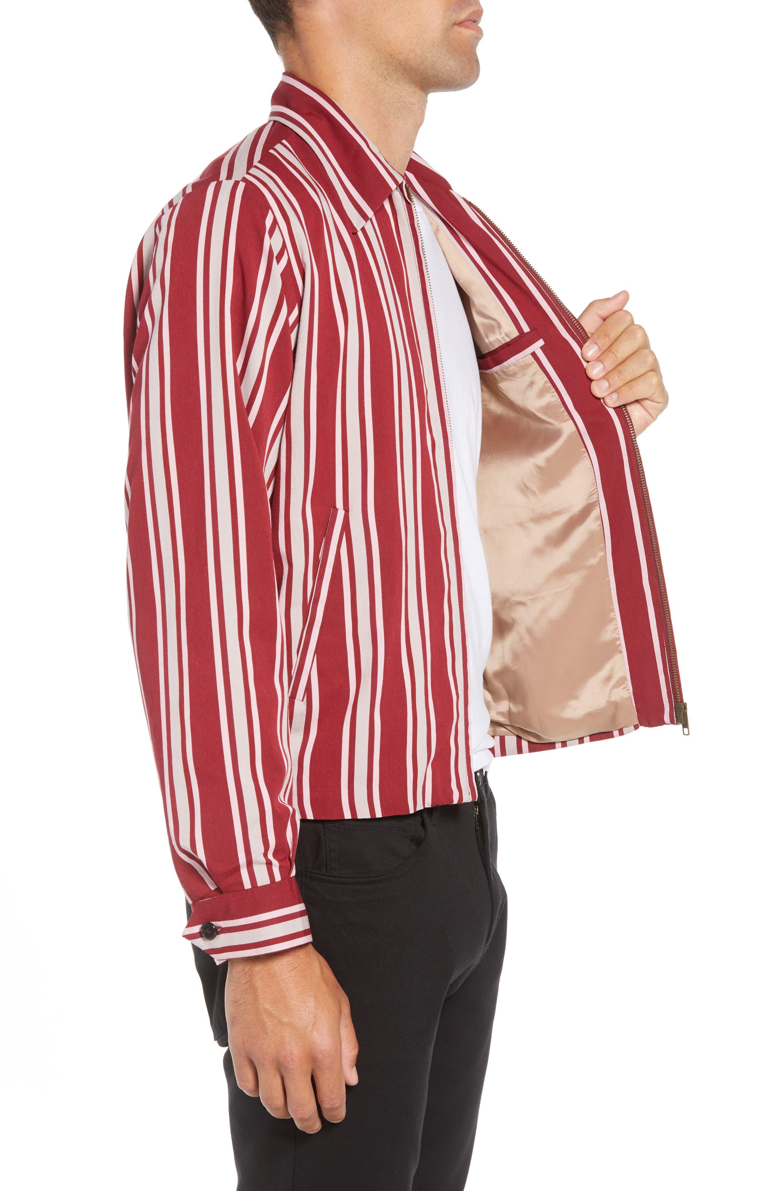 Fifty Regular Fit Shirt Jacket,                             Alternate thumbnail 3, color,                             RED STRIPE
