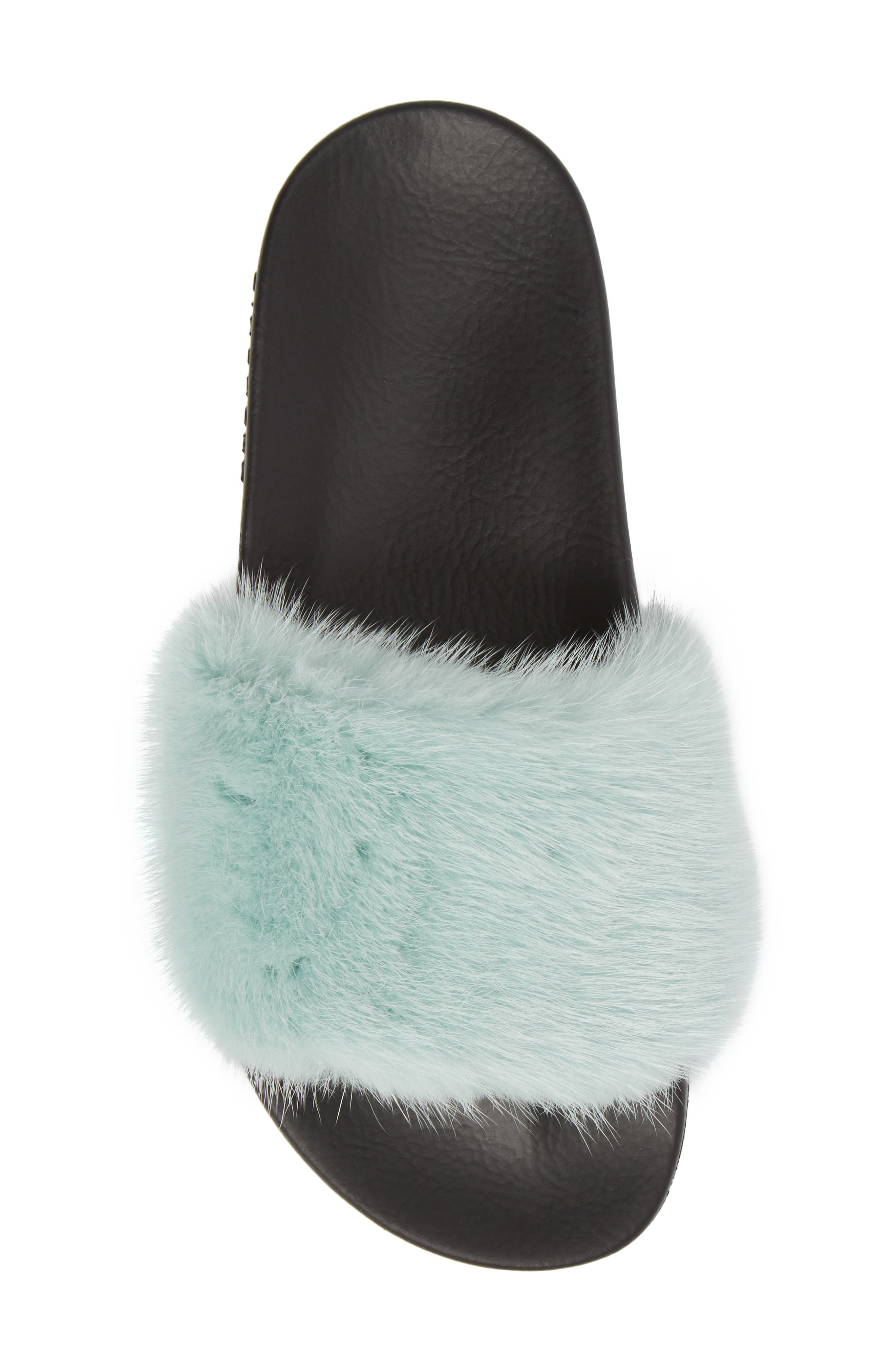 Genuine Mink Fur Slide Sandal,                             Alternate thumbnail 5, color,                             423