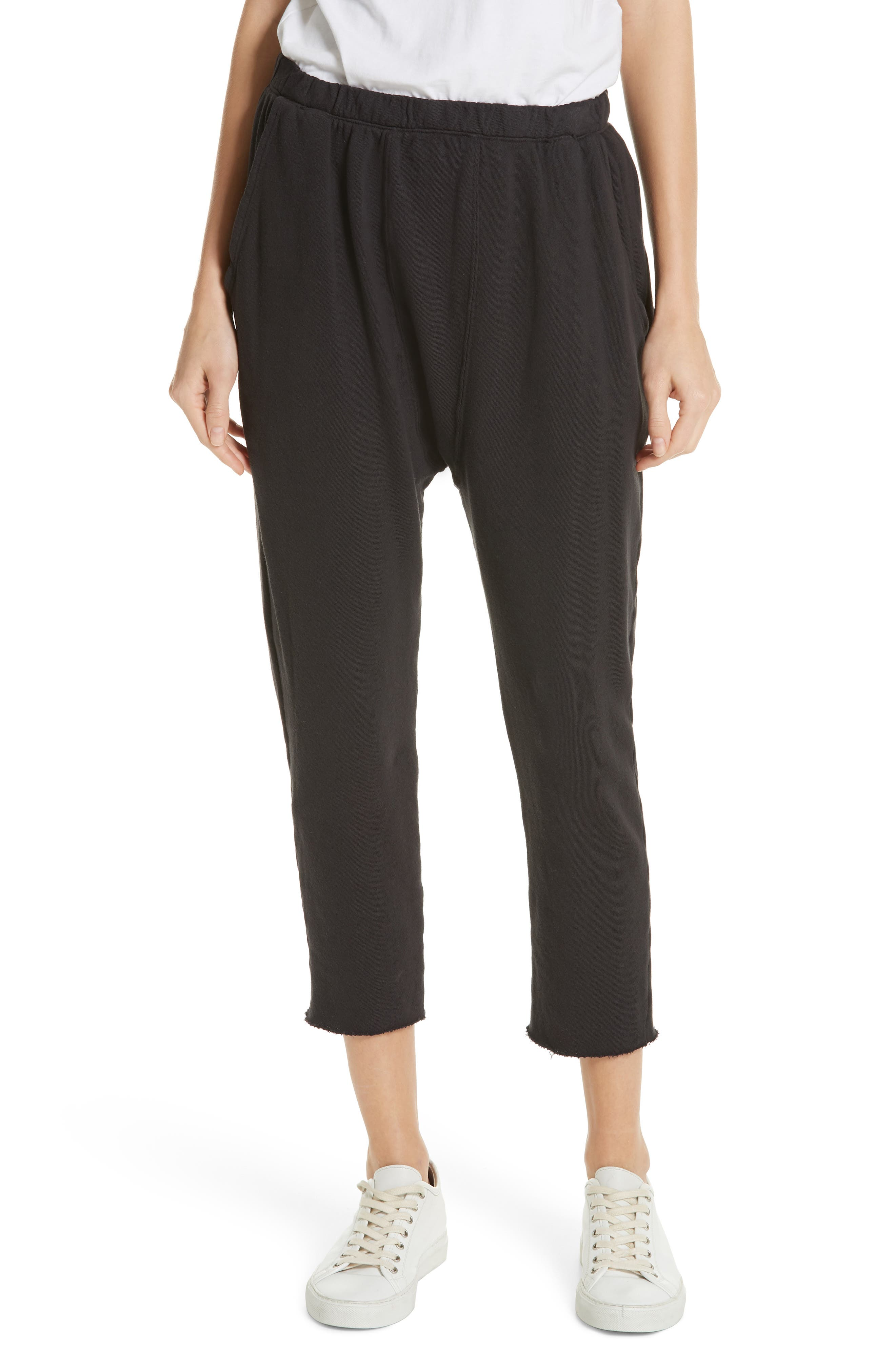 The Pajama Sweatpants,                         Main,                         color, ALMOST BLACK