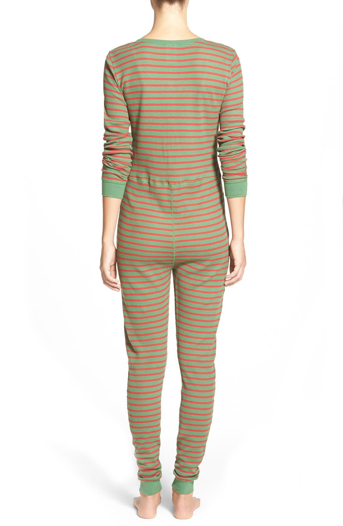 Holiday Thermal One-Piece Pajamas,                             Alternate thumbnail 3, color,                             310