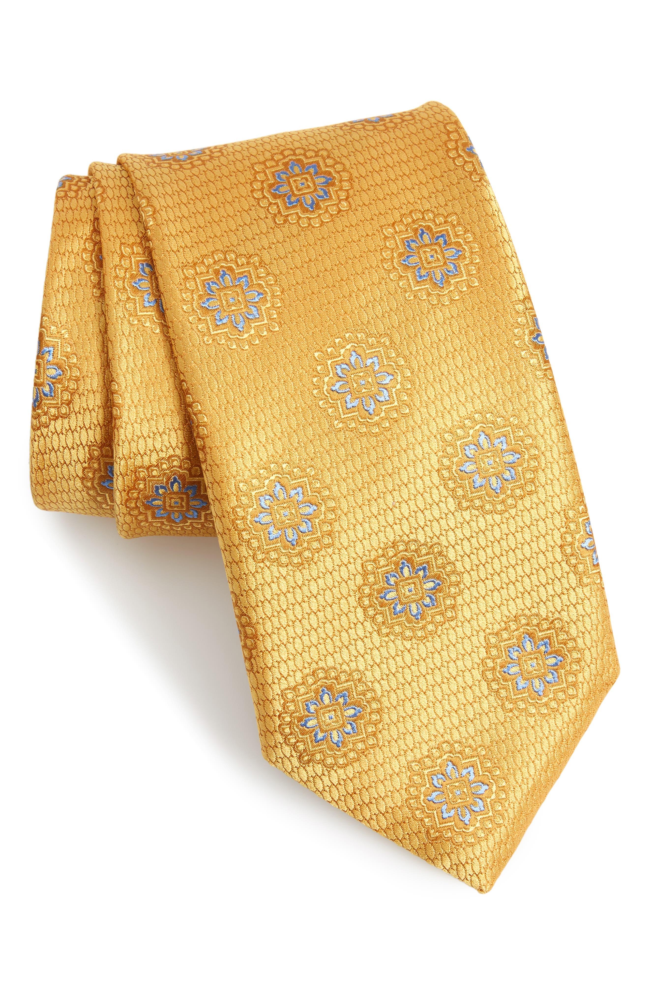 CANALI,                             Medallion Silk Tie,                             Main thumbnail 1, color,                             700