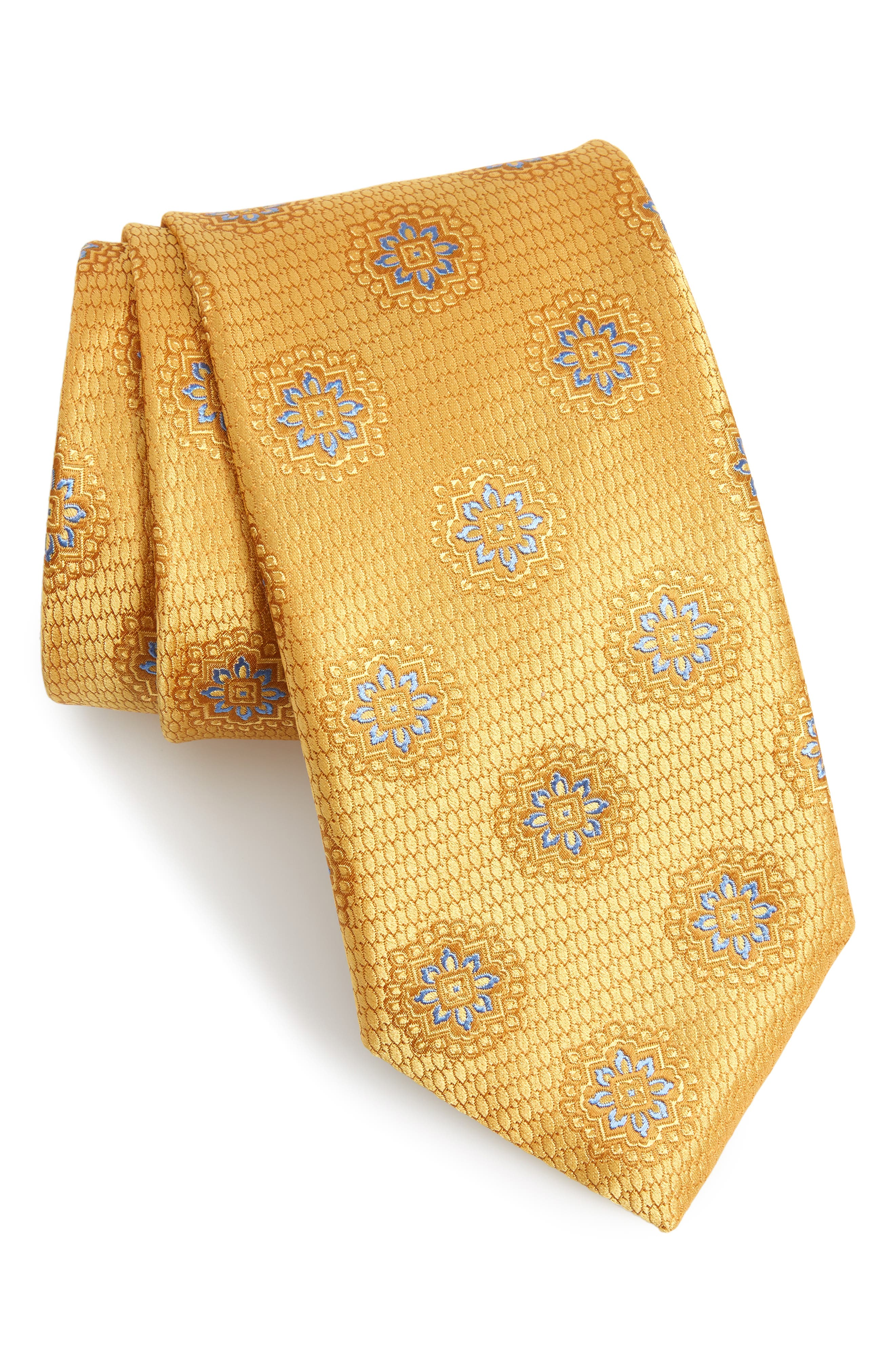CANALI Medallion Silk Tie, Main, color, 700
