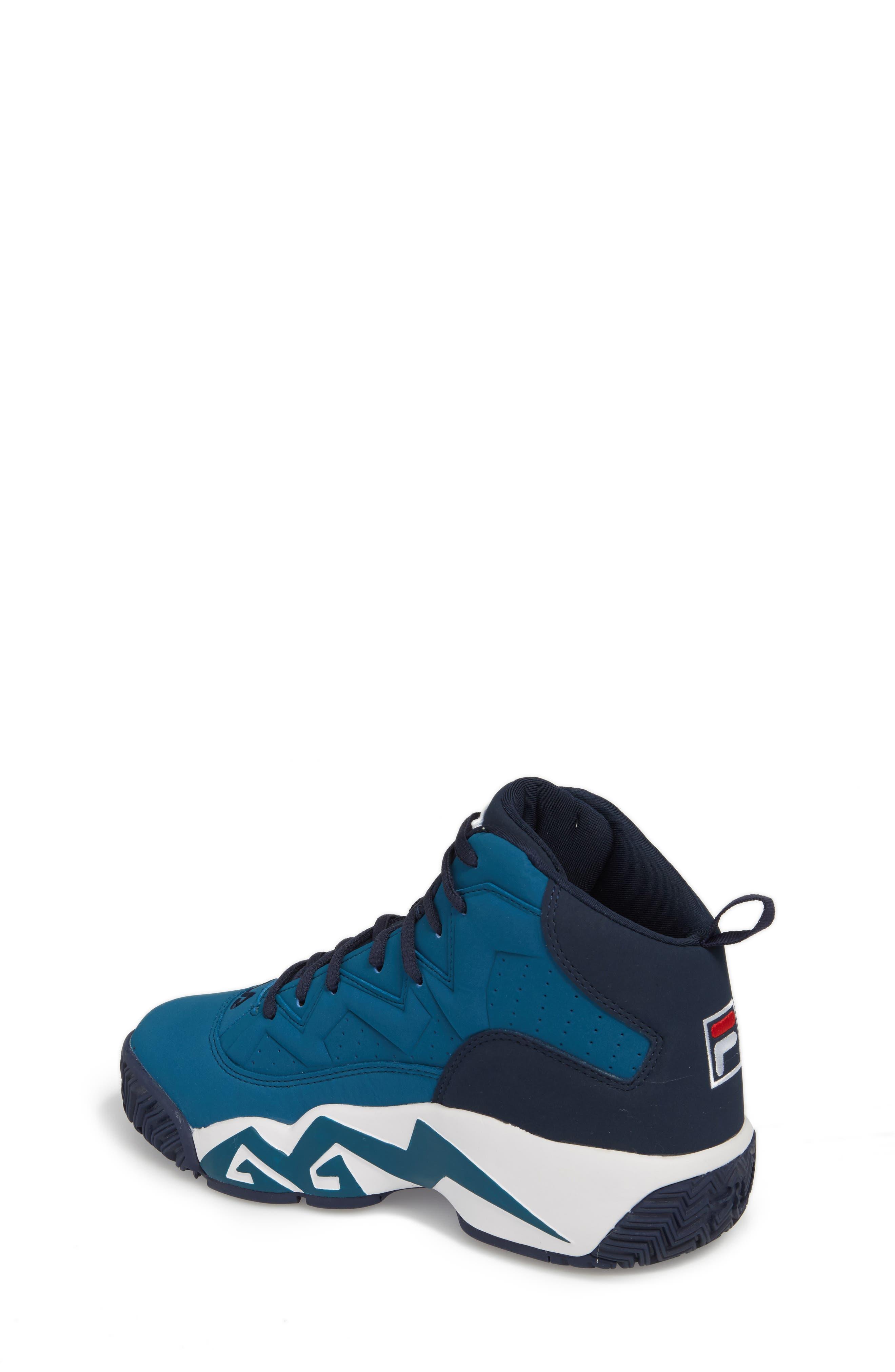 MB High Top Sneaker,                             Alternate thumbnail 2, color,                             INK BLUE/ FILA NAVY