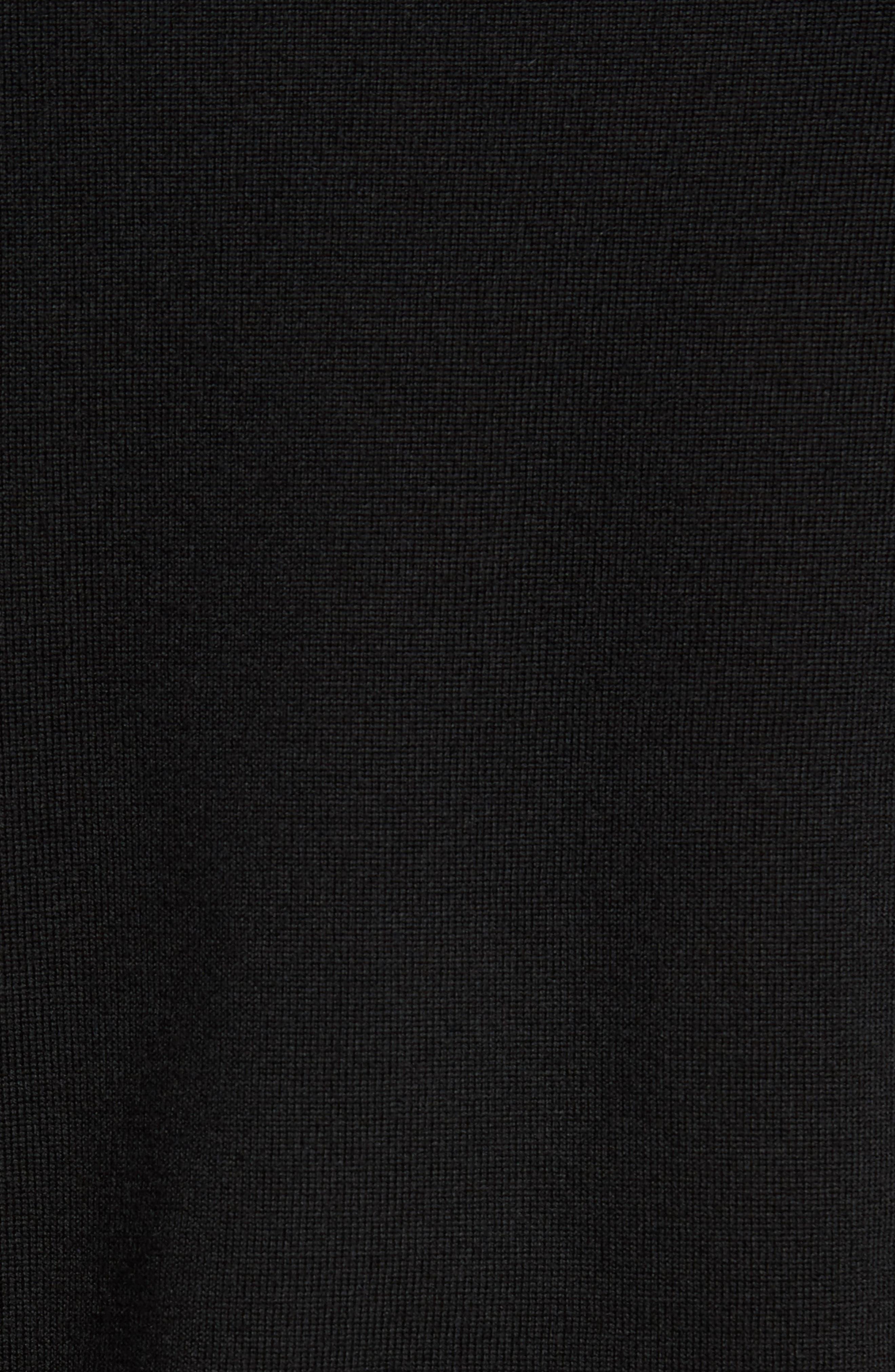 Crewneck Merino Wool Sweater,                             Alternate thumbnail 5, color,                             BLACK CAVIAR