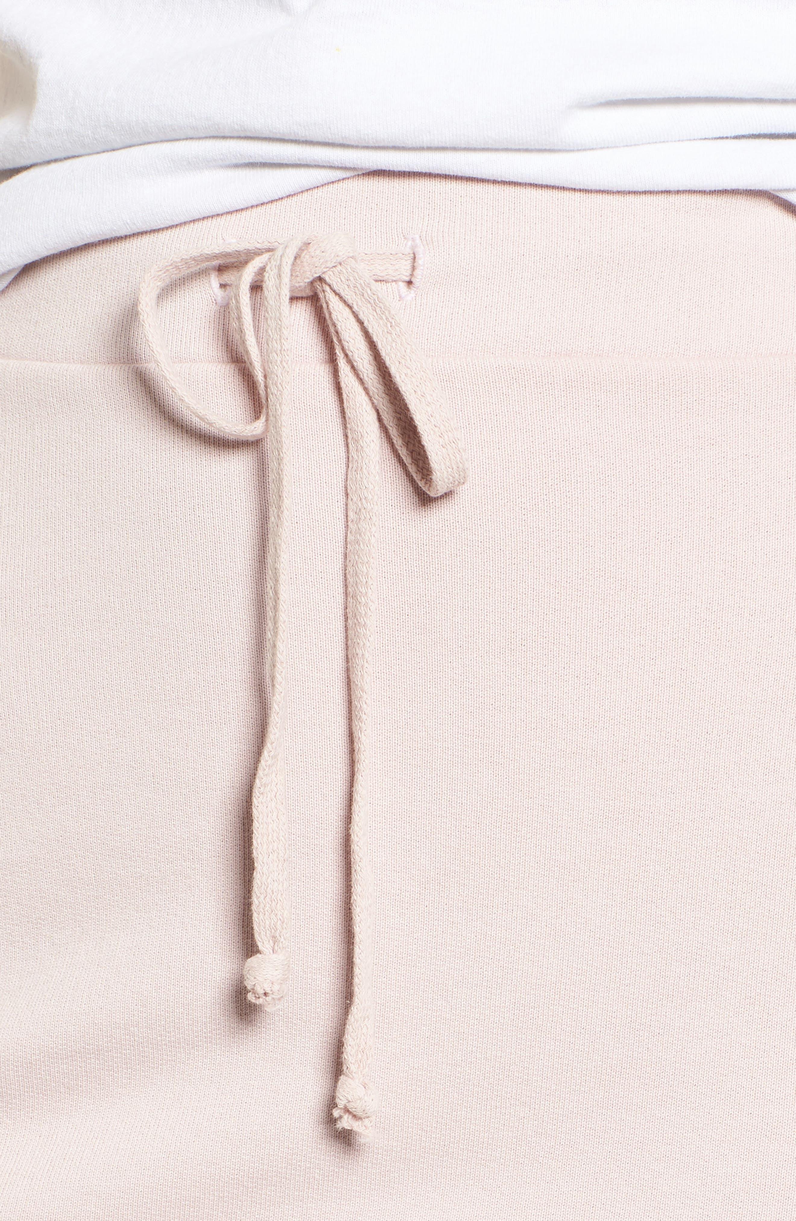 Tee Lab Short Fleece Skirt,                             Alternate thumbnail 4, color,