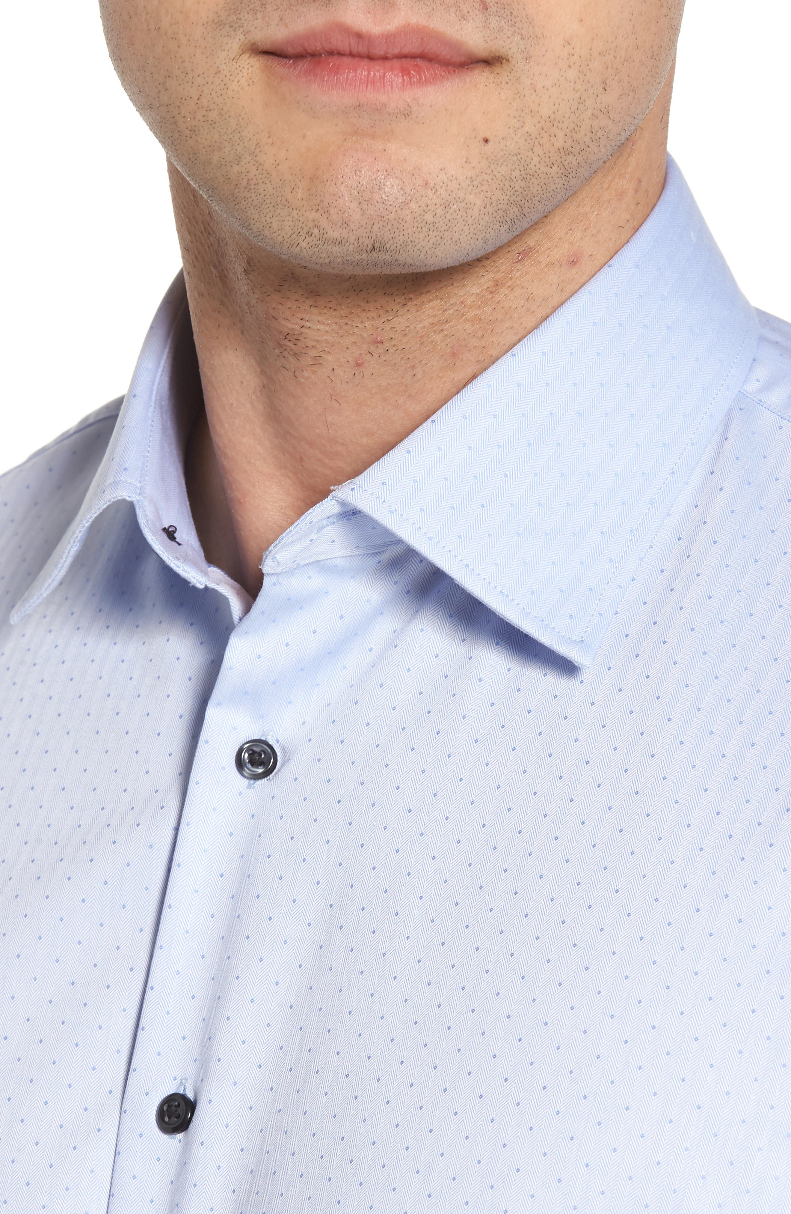 Traditional Fit Non-Iron Dress Shirt,                             Alternate thumbnail 4, color,