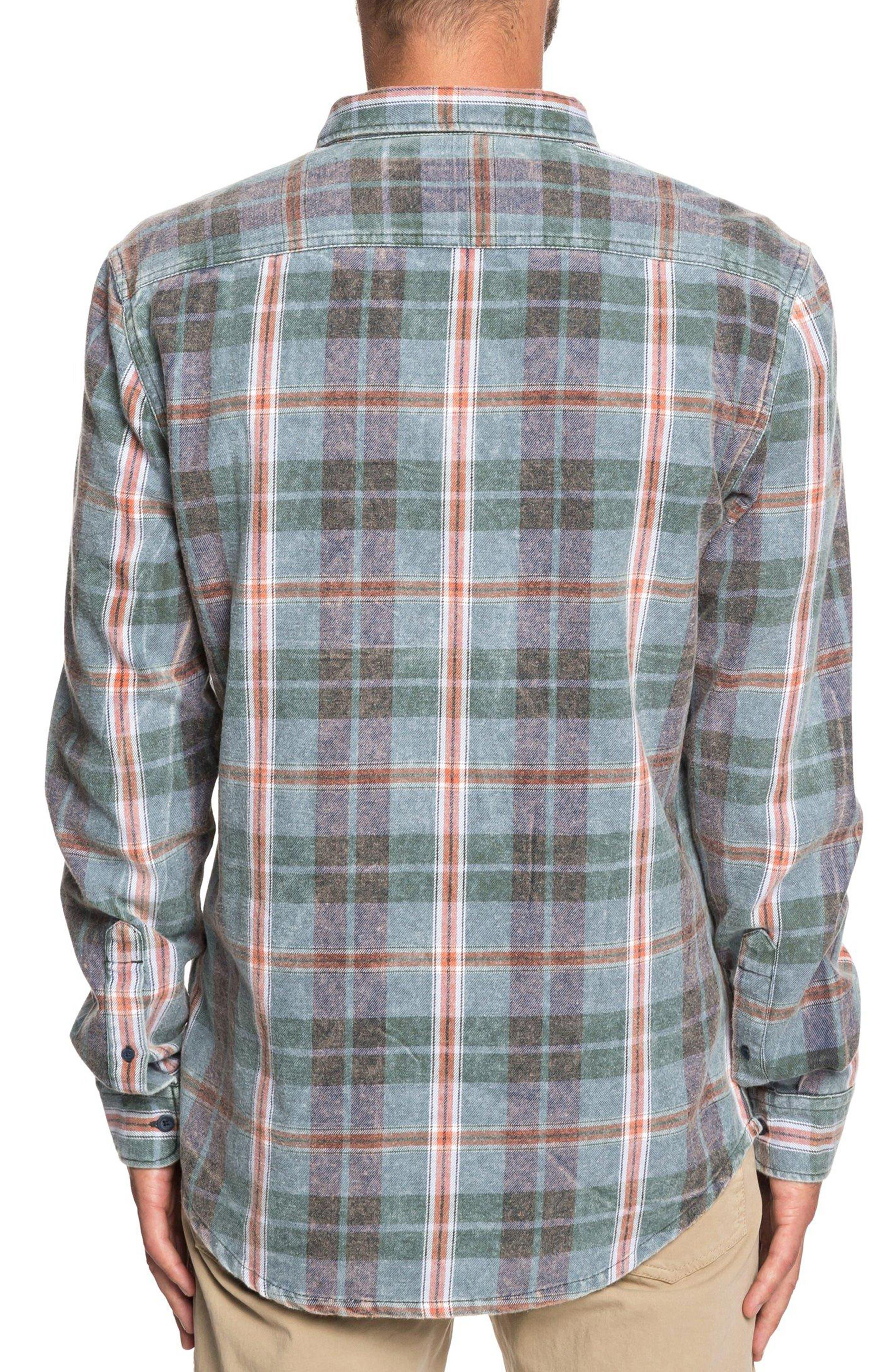 Super Tang Flannel Shirt,                             Alternate thumbnail 3, color,                             STONE WASH TANG