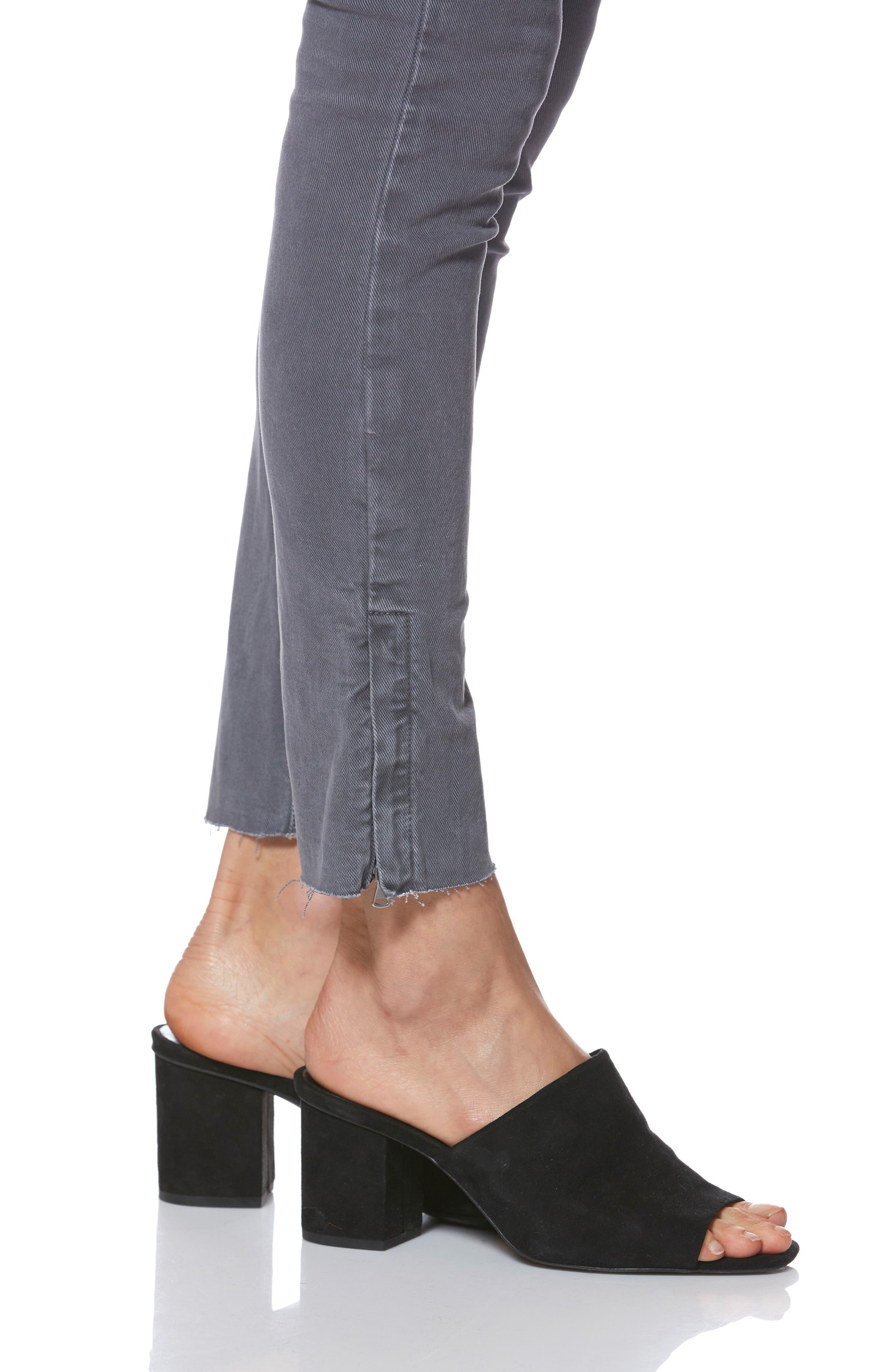 Hoxton Utilitarian High Waist Ankle Skinny Jeans,                             Alternate thumbnail 5, color,                             VINTAGE TORNADO