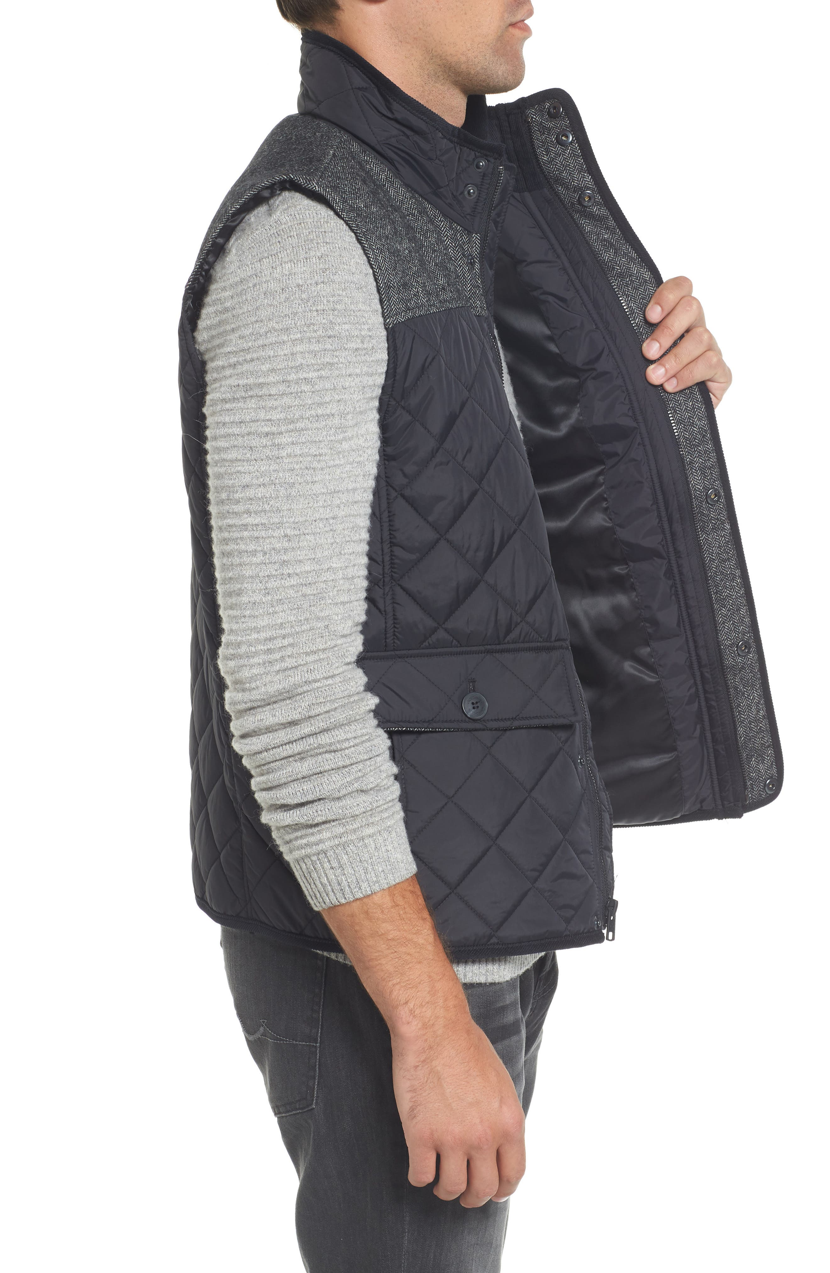 Quilted Vest,                             Alternate thumbnail 5, color,
