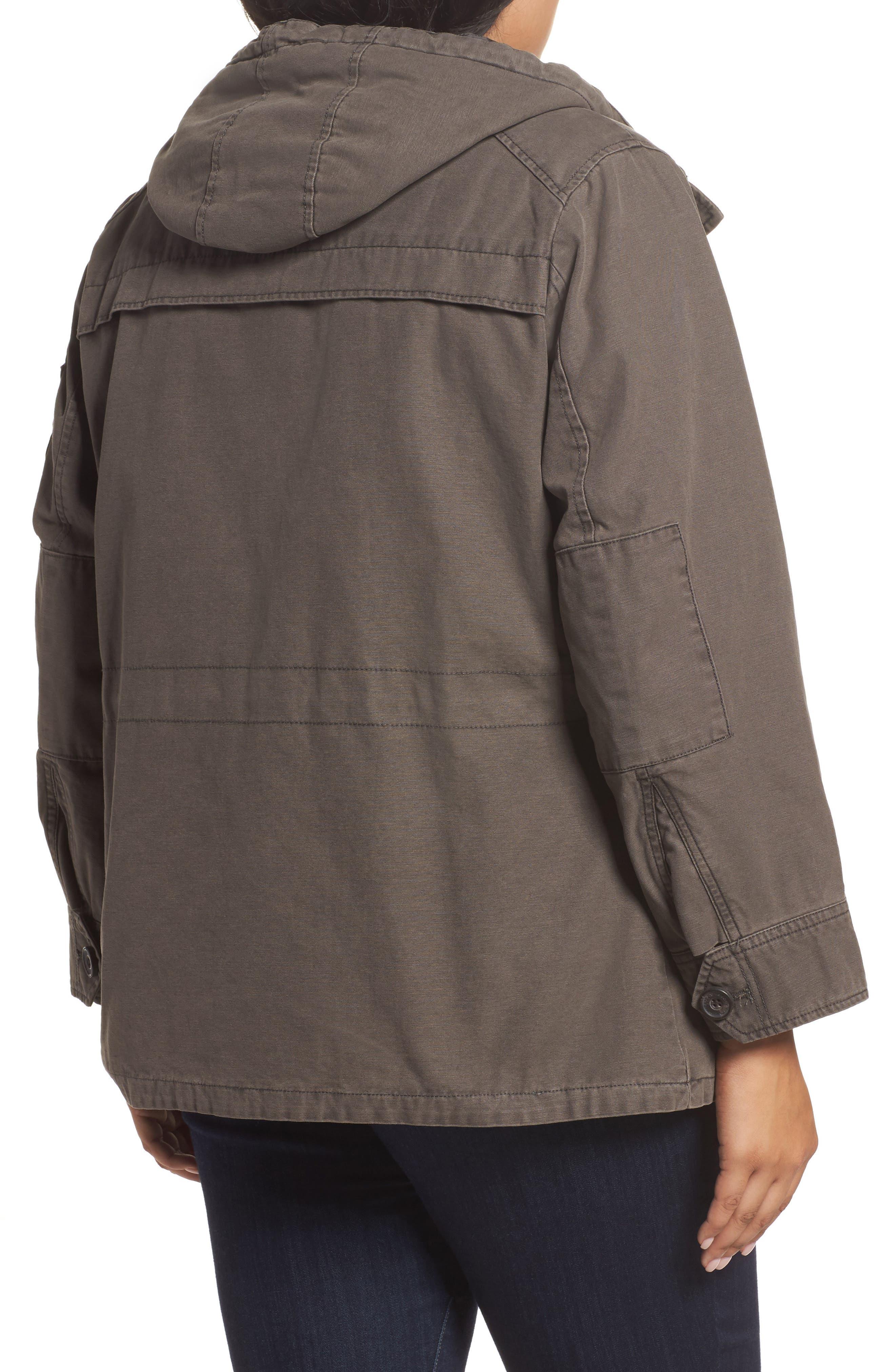 Hooded Cotton Utility Jacket,                             Alternate thumbnail 5, color,