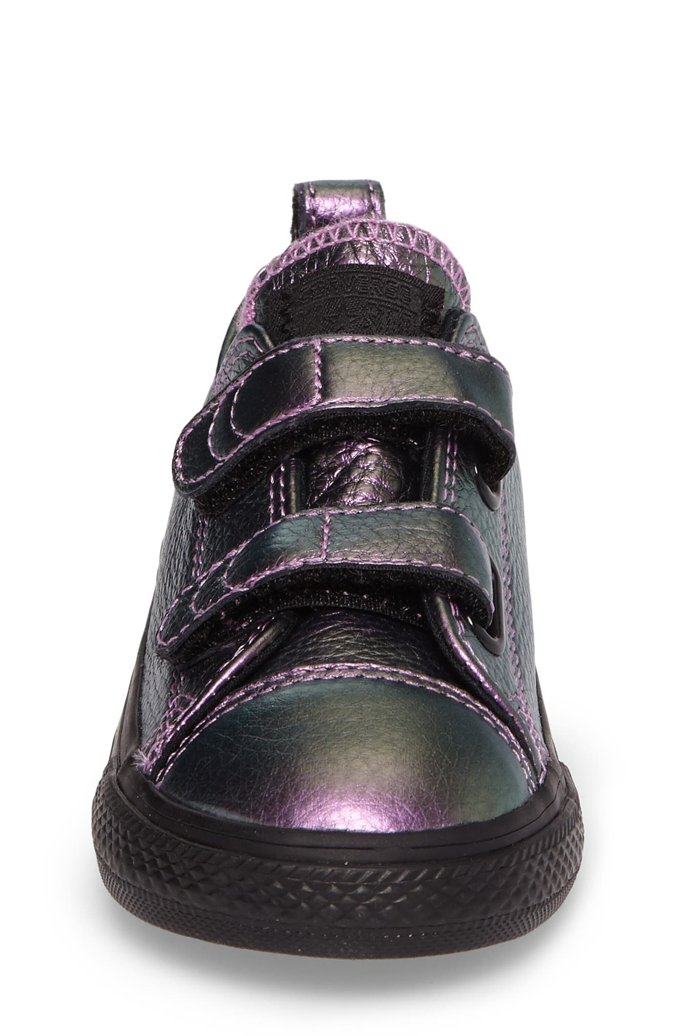 Chuck Taylor<sup>®</sup> All Star<sup>®</sup> Iridescent Leather Low Top Sneaker,                             Alternate thumbnail 4, color,                             500