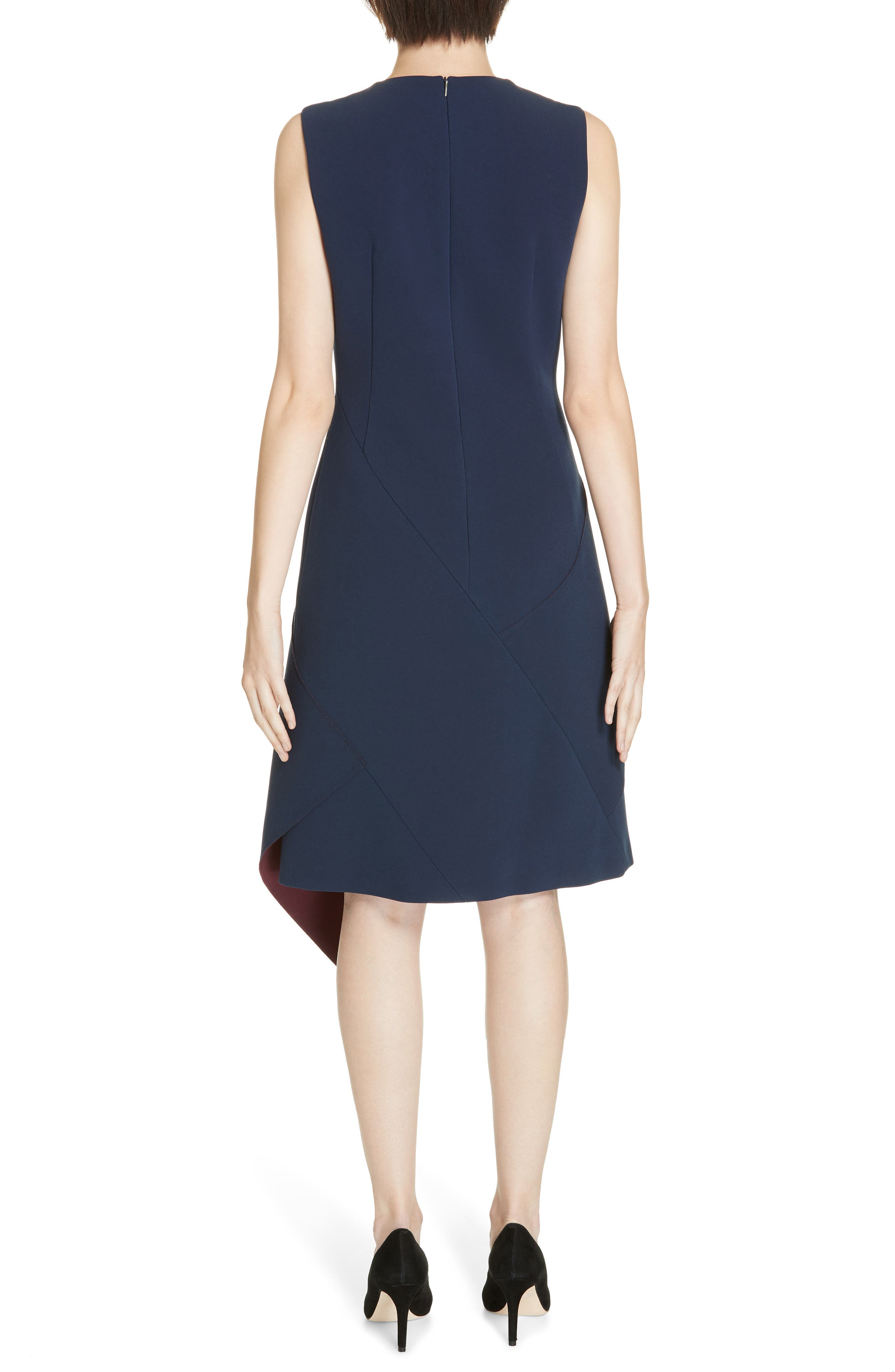 Delakety Asymmetrical A-Line Dress,                             Alternate thumbnail 2, color,                             DEEP BLUE FANTASY