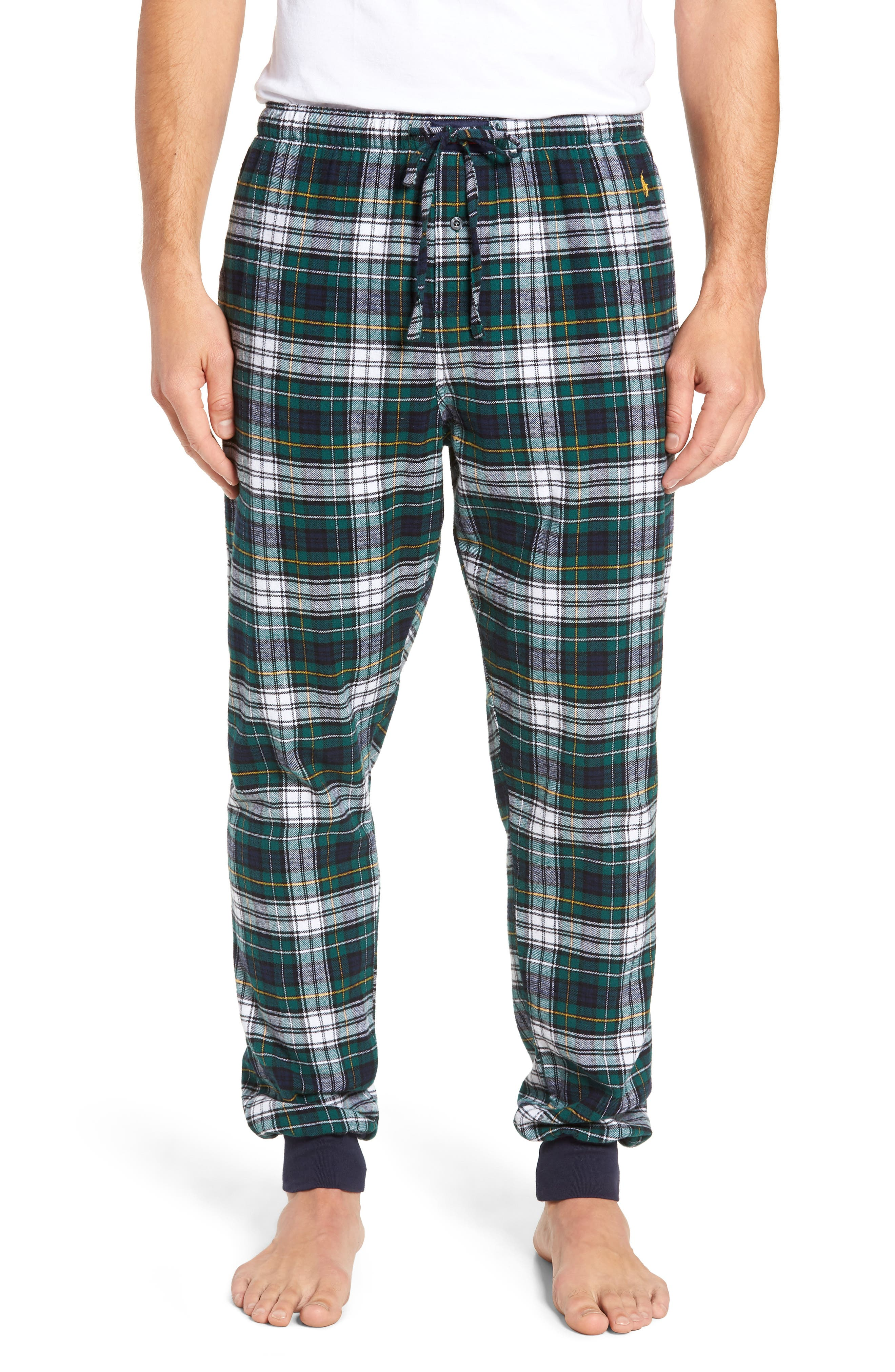 POLO RALPH LAUREN Flannel Cotton Jogger Pajama Pants, Main, color, 400