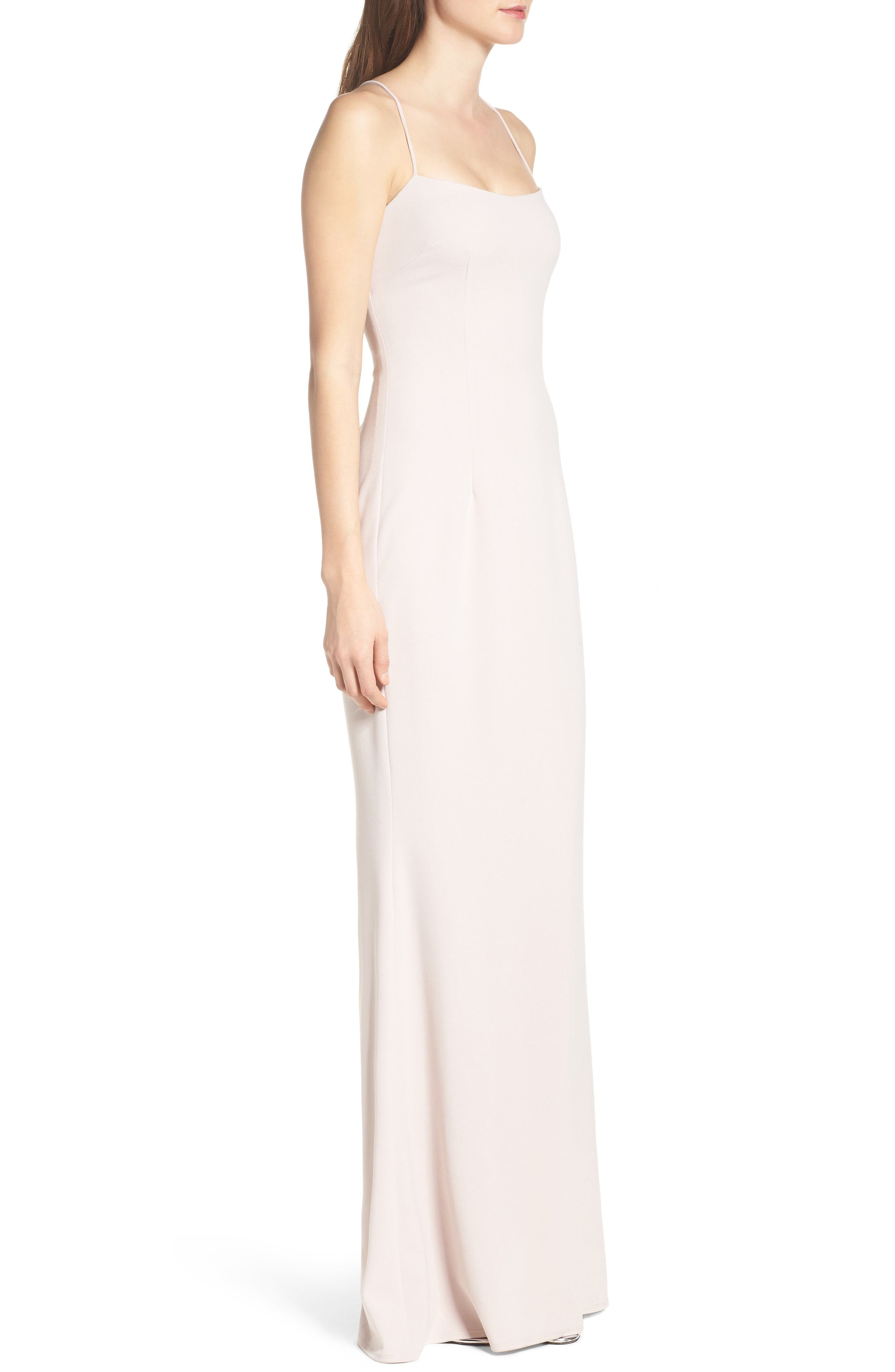 Jean Stretch Crepe Gown,                             Alternate thumbnail 6, color,