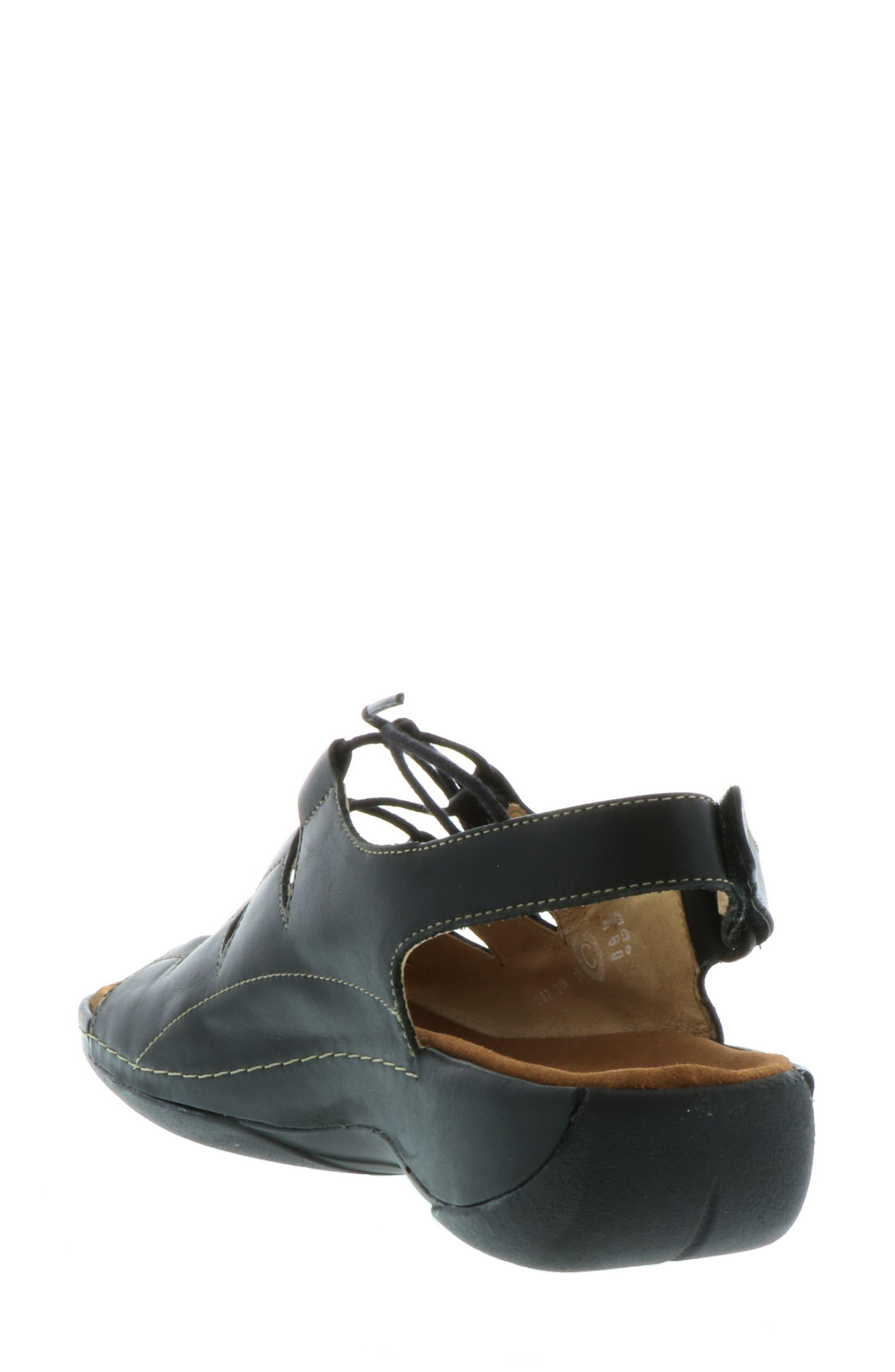 Kite Lace-Up Sandal,                             Alternate thumbnail 2, color,                             BLACK LEATHER