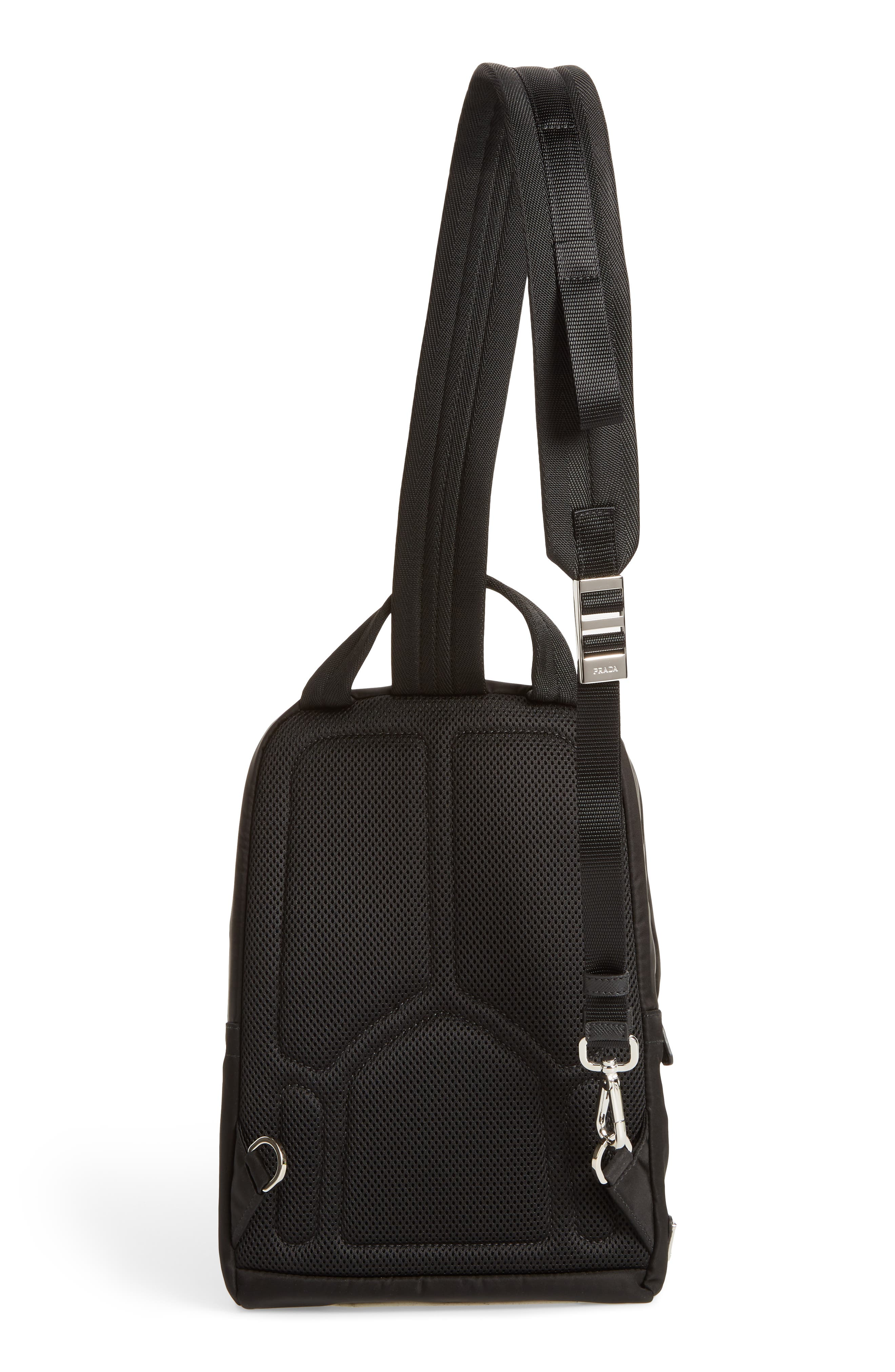 PRADA,                             Tessuto Small Sling Bag,                             Alternate thumbnail 3, color,                             001