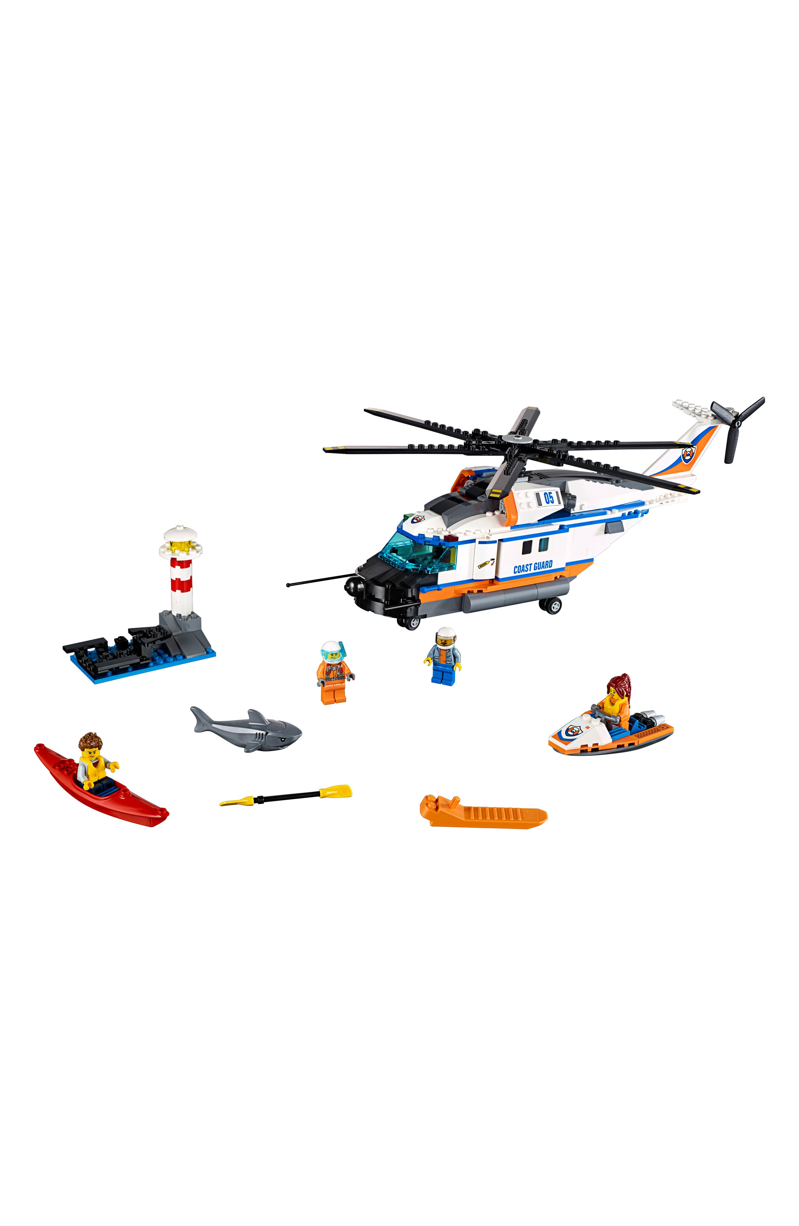 City Heavy-Duty Rescue Helicopter - 60166,                             Alternate thumbnail 5, color,                             100