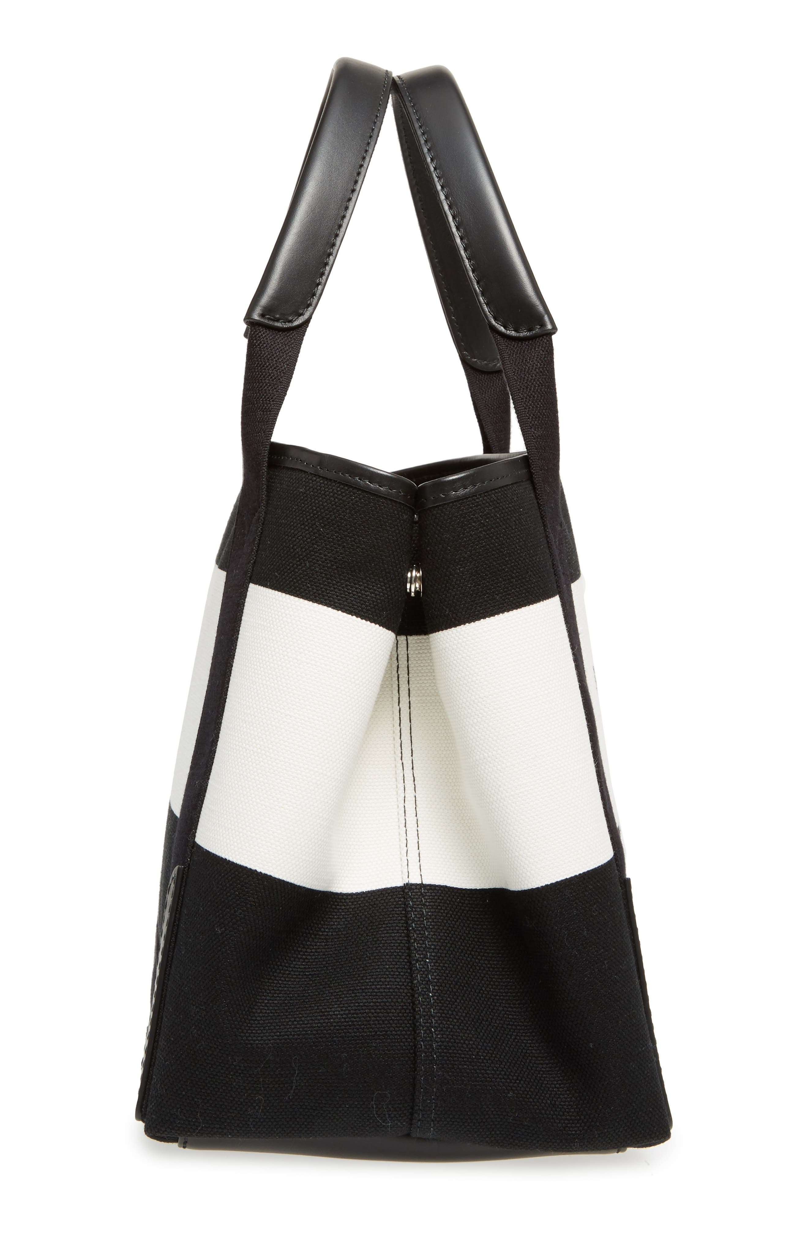 Small Cabas Canvas Tote,                             Alternate thumbnail 5, color,                             006