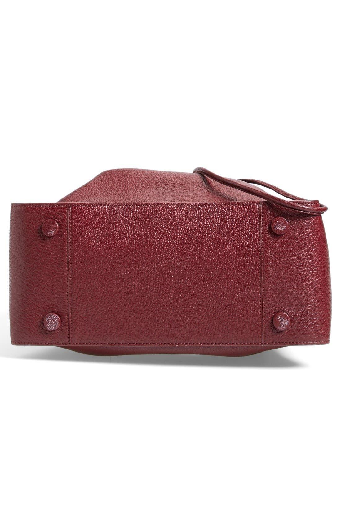 'Large Soleil' Leather Bucket Bag,                             Alternate thumbnail 8, color,
