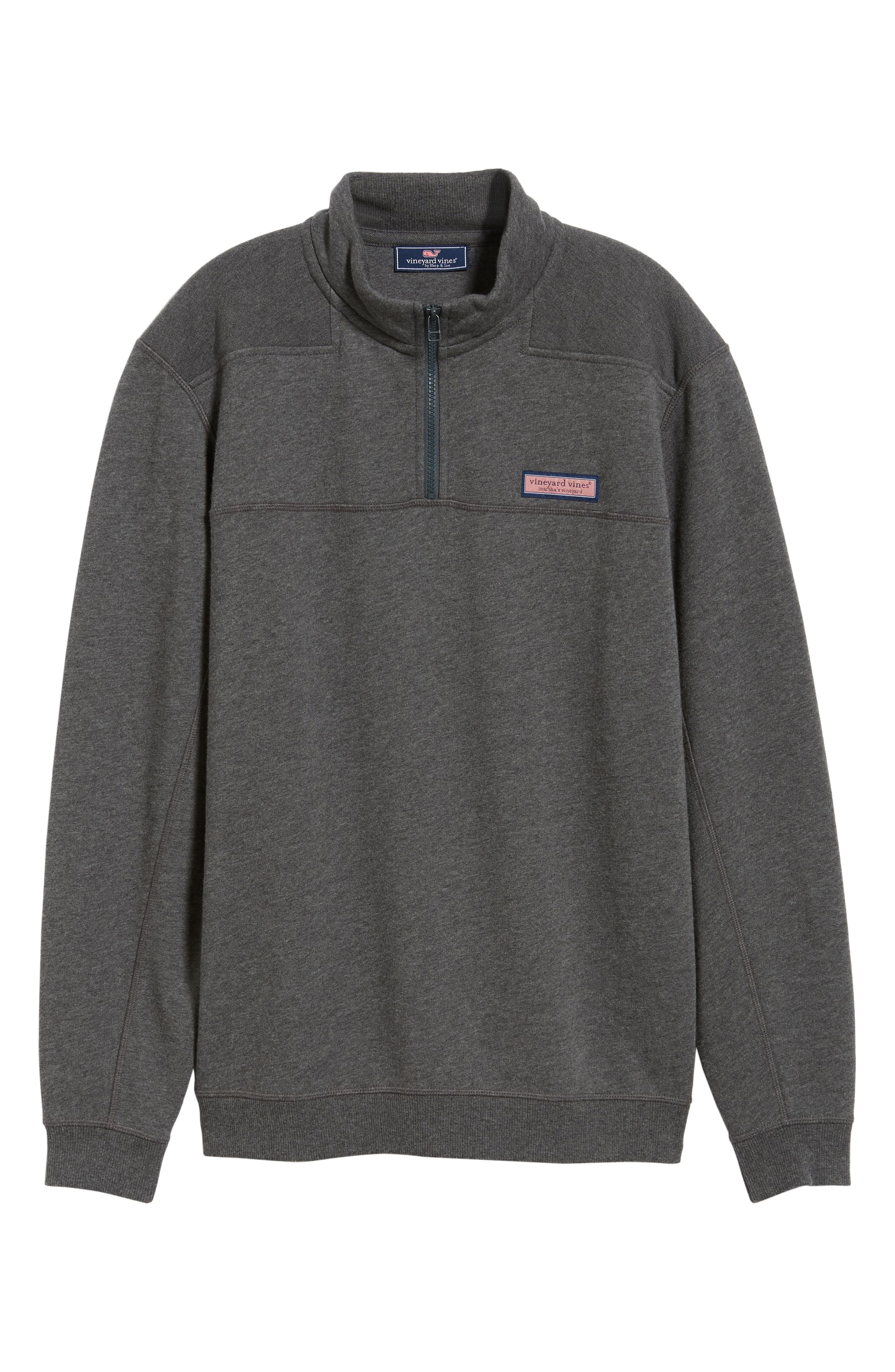 Quarter Zip Fleece Pullover,                             Alternate thumbnail 6, color,                             PEBBLE