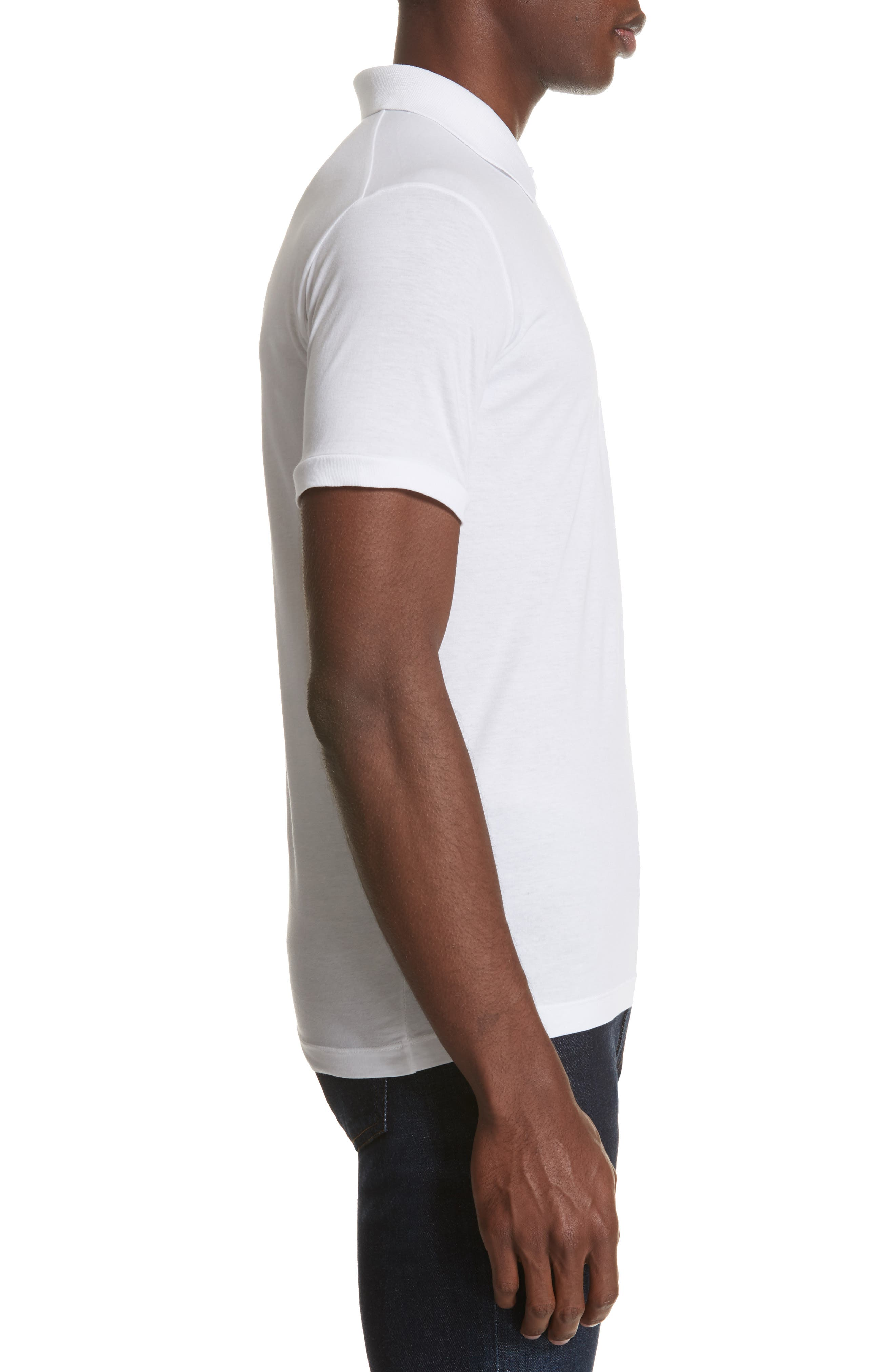 Solid Polo,                             Alternate thumbnail 3, color,                             WHITE