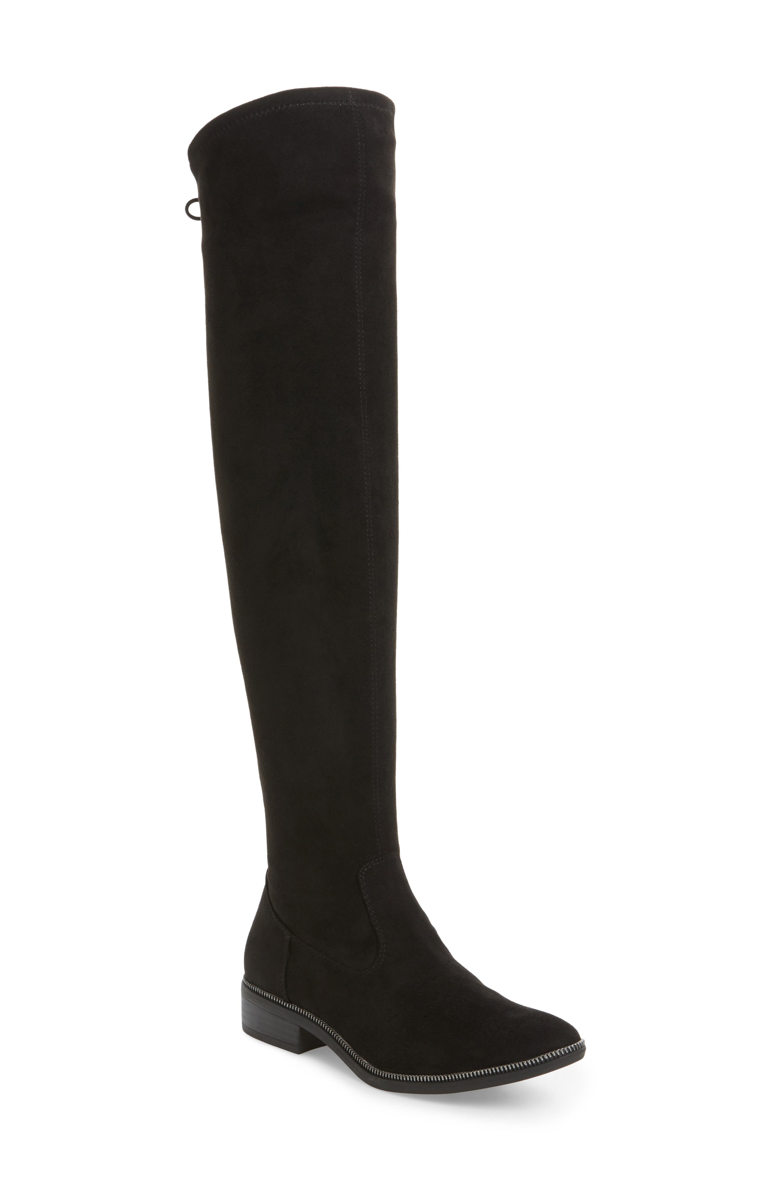 Phanie Over the Knee Stretch Boot,                             Main thumbnail 1, color,                             001