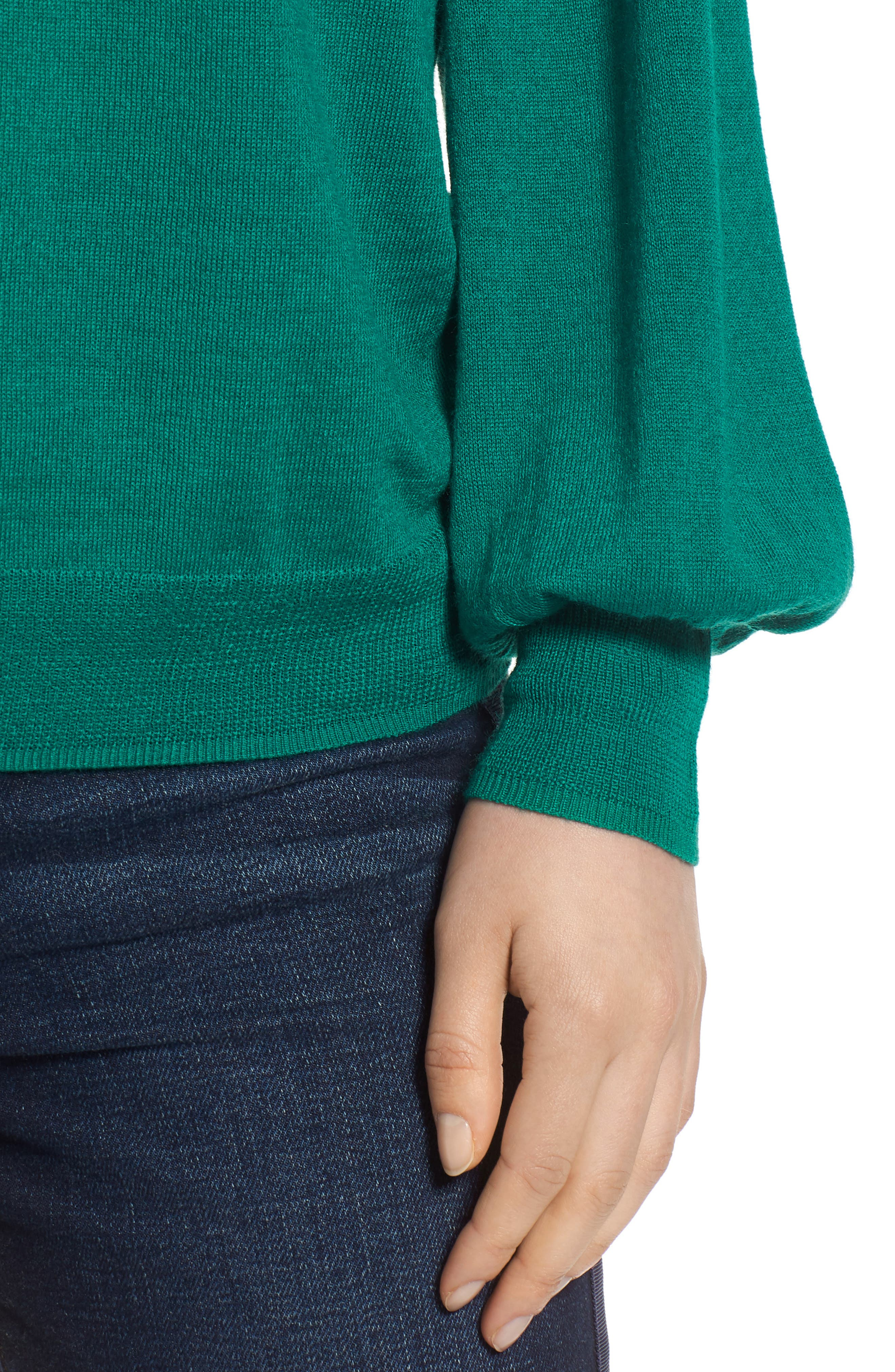 Puff Sleeve Sweater,                             Alternate thumbnail 34, color,