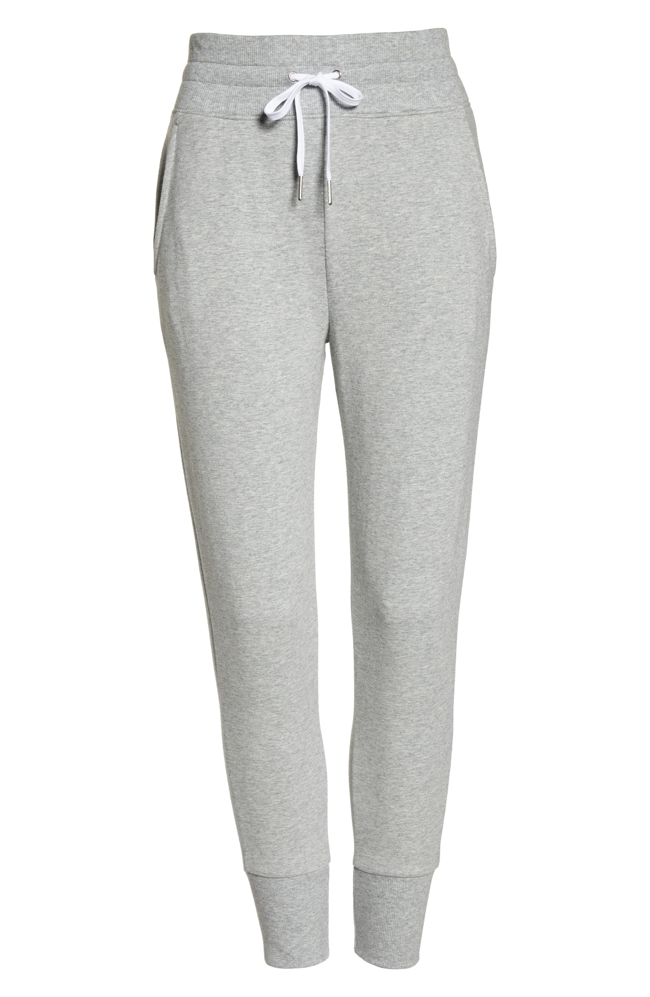 Repeat High Waist Crop Jogger Pants,                             Alternate thumbnail 7, color,                             GREY QUIET HEATHER