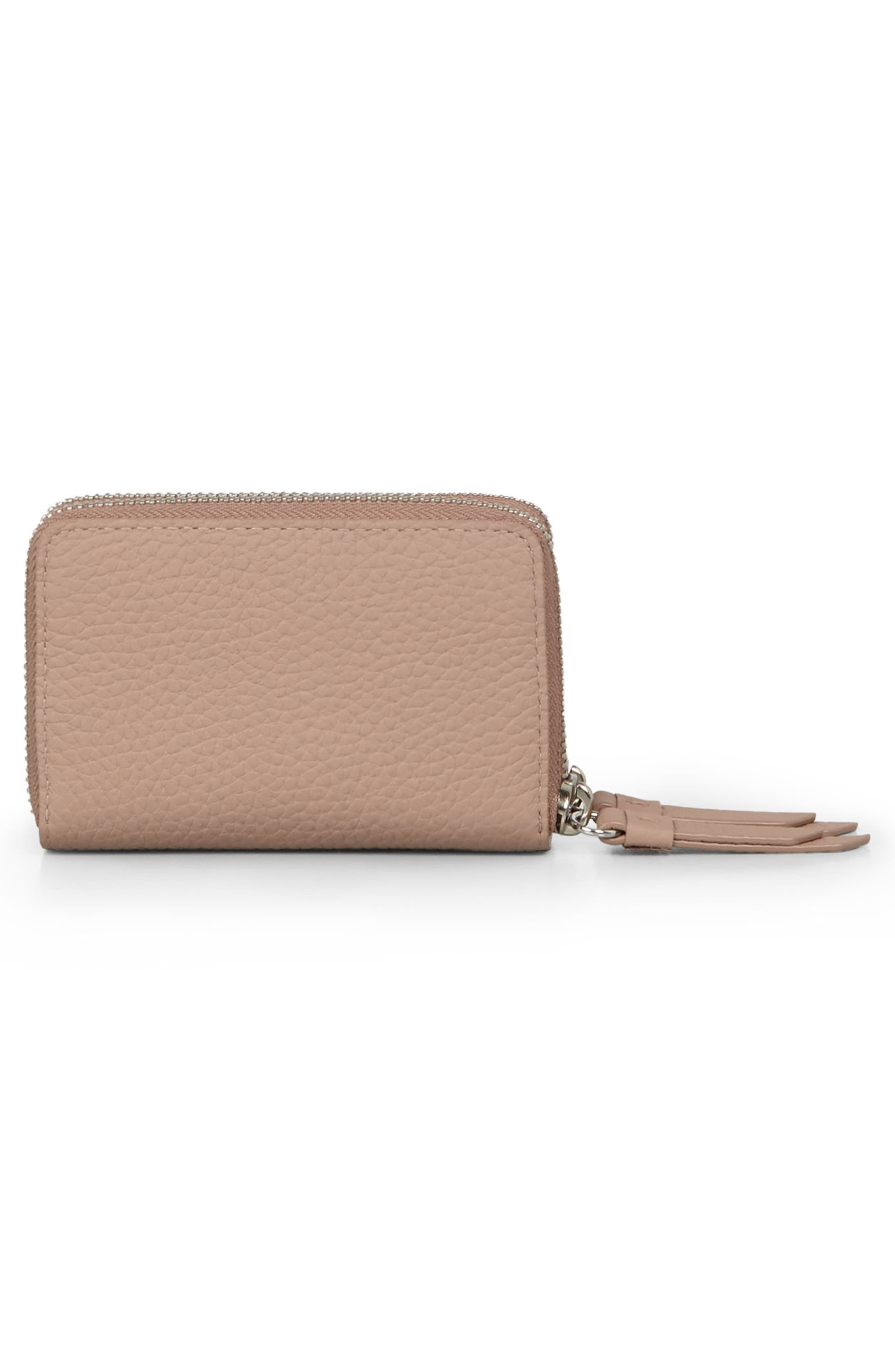 Fetch Leather Card Holder,                             Alternate thumbnail 9, color,
