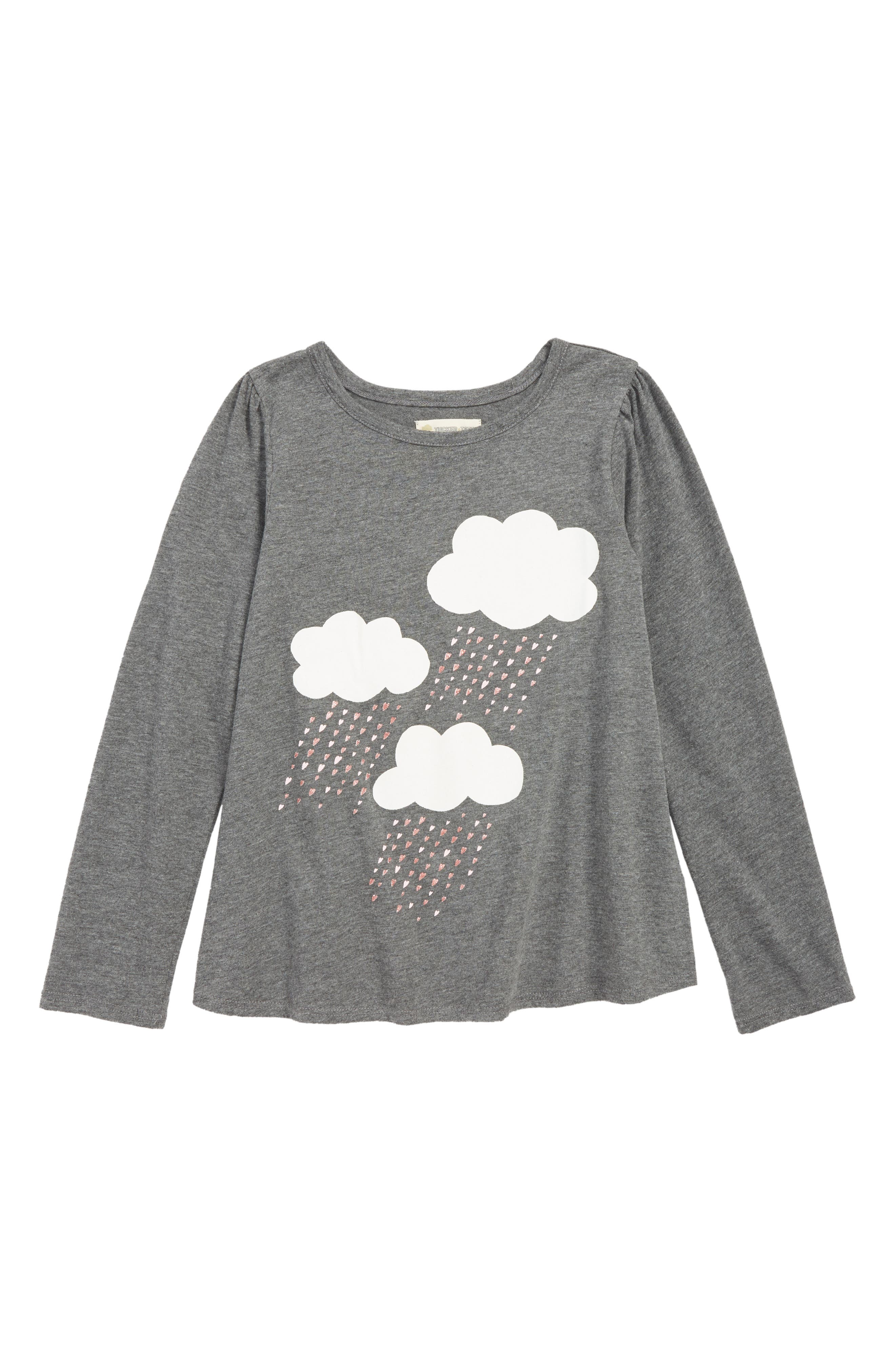 Sparkle Graphic Tee, Main, color, GREY MD CHARCOAL HTR CLOUDS