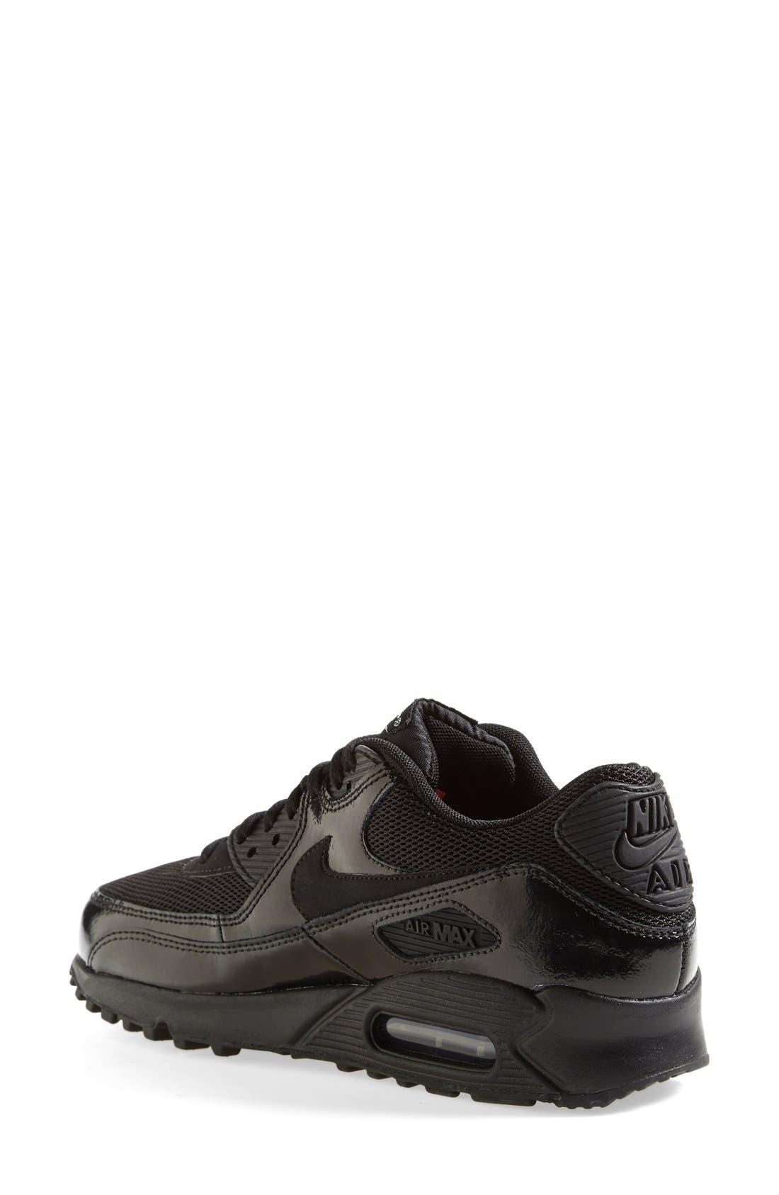 'Air Max 90 - Premium' Sneaker,                             Alternate thumbnail 3, color,                             002