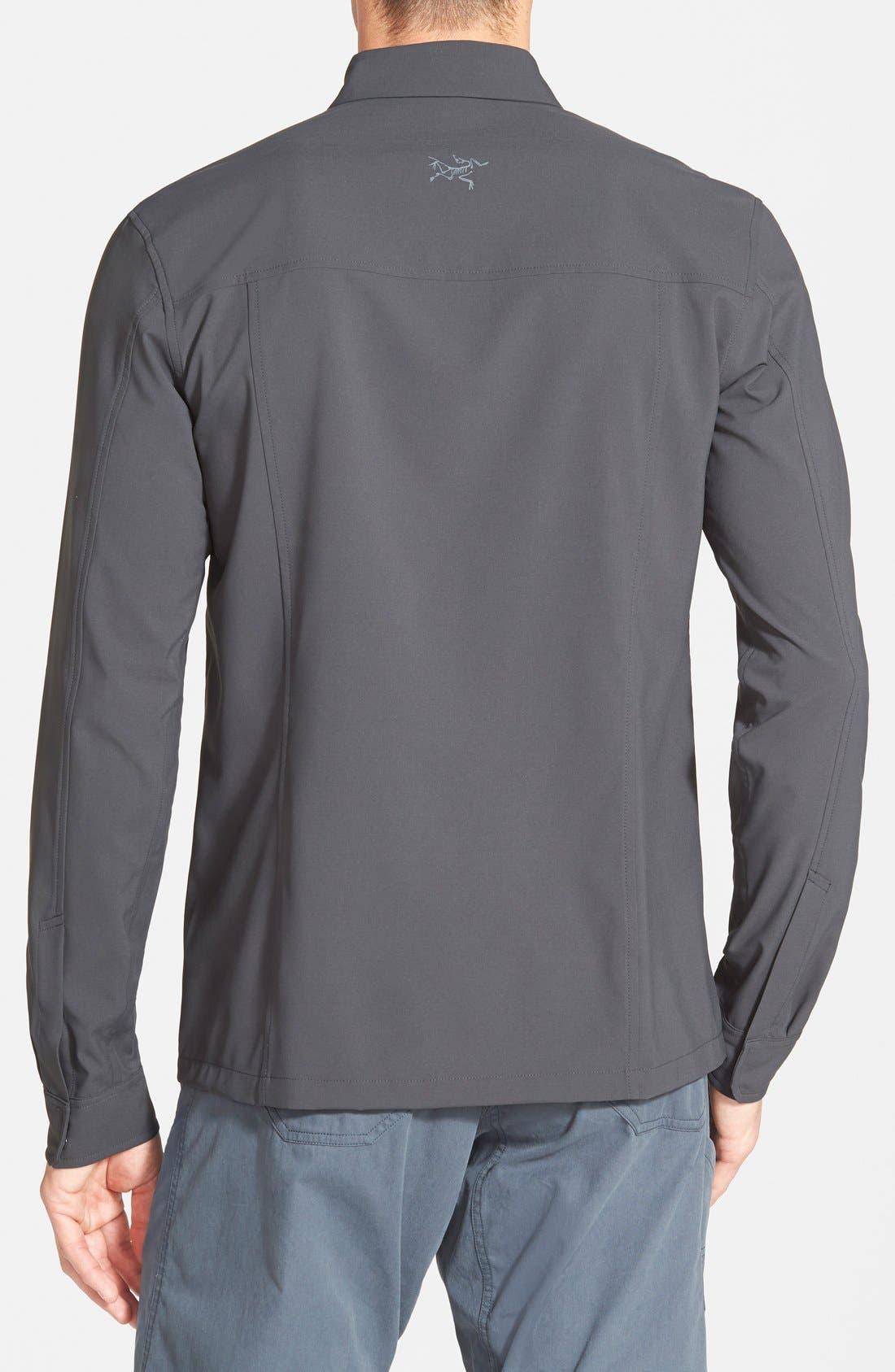 'Skyline' Trim Fit Sport Shirt,                             Alternate thumbnail 2, color,                             030