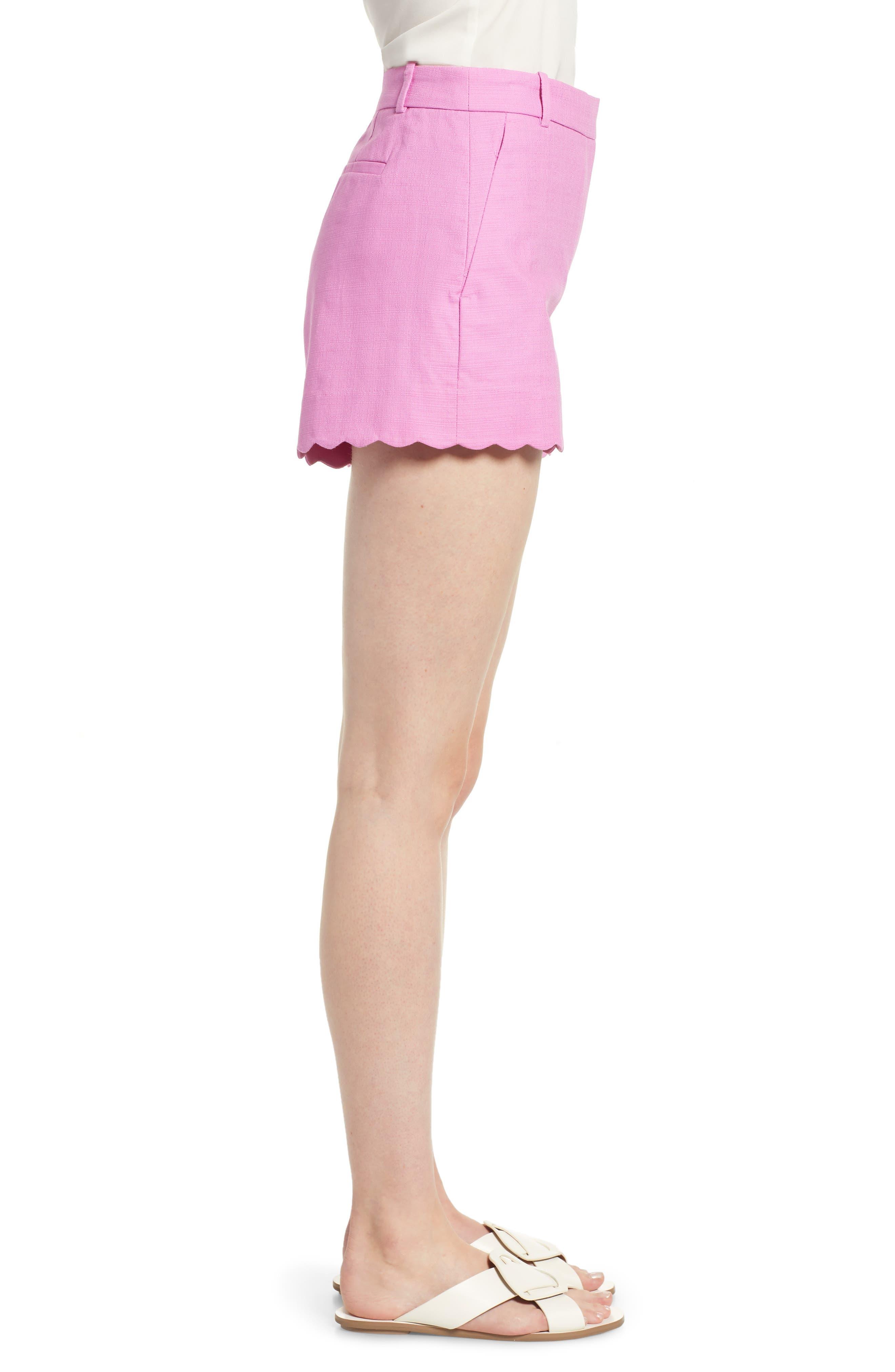 Fiesta Scallop Hem Stretch Cotton Shorts,                             Alternate thumbnail 9, color,