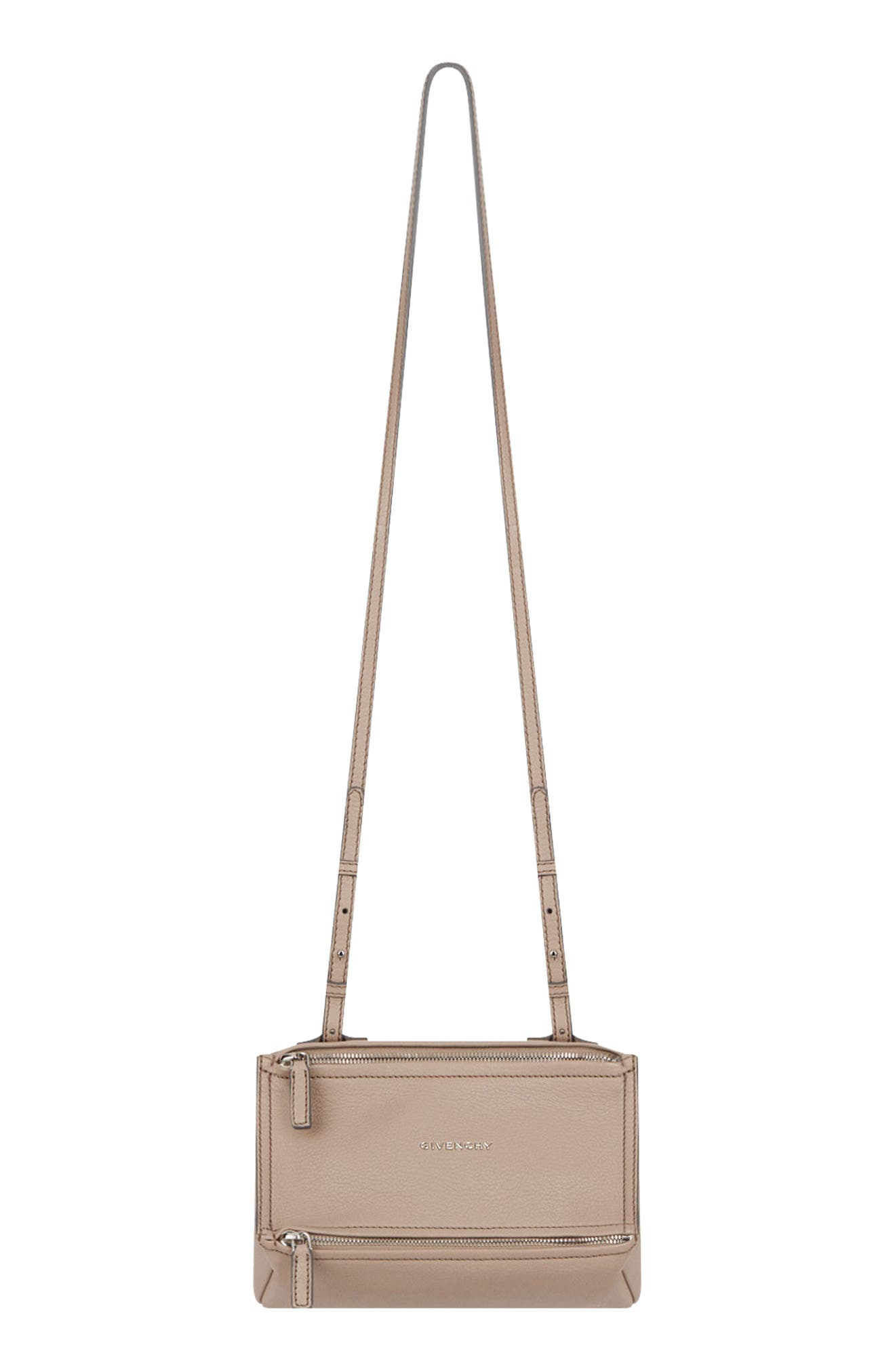 'Mini Pandora' Sugar Leather Shoulder Bag,                         Main,                         color, POWDER
