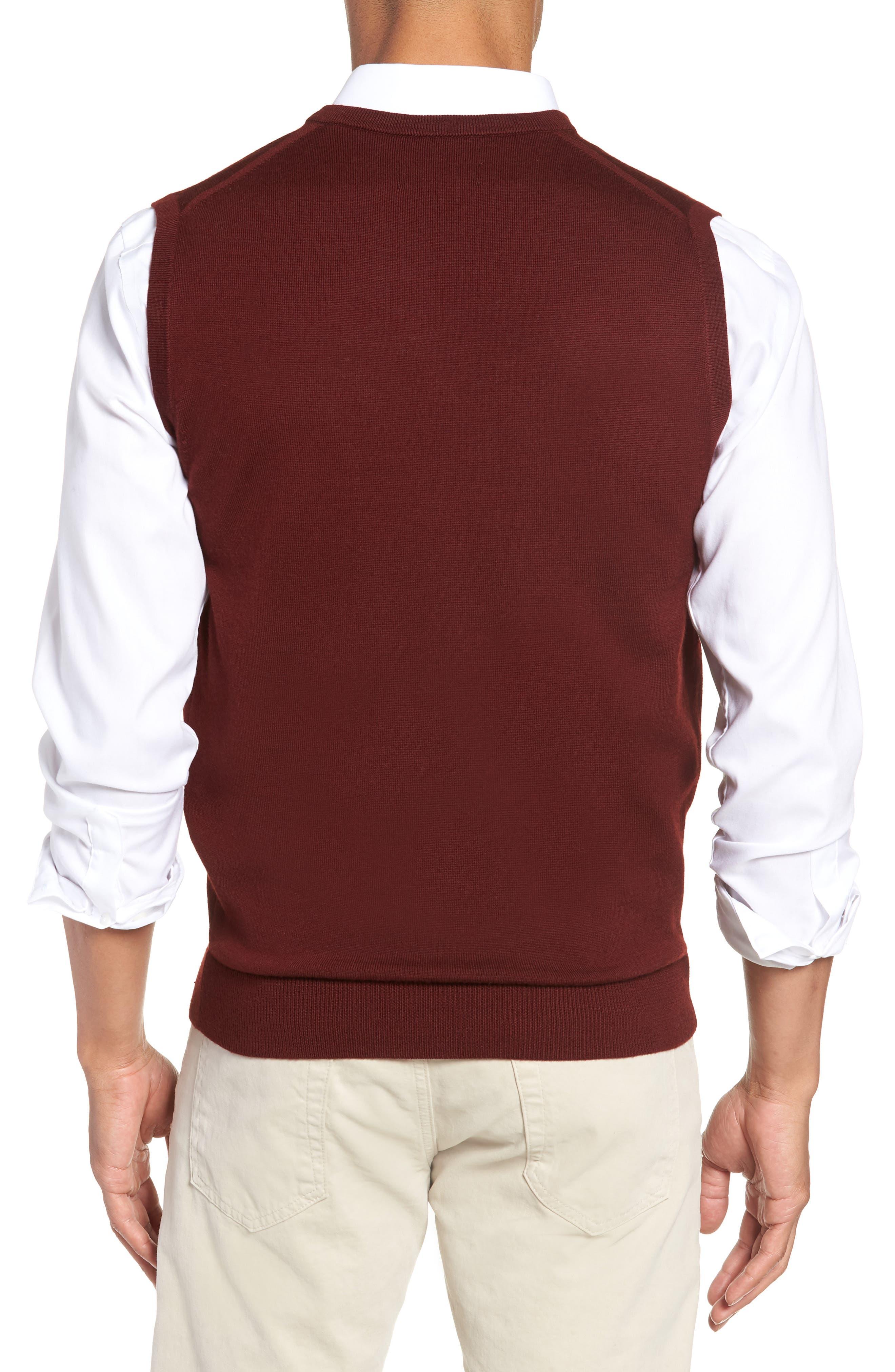Merino Wool Sweater Vest,                             Alternate thumbnail 2, color,                             BURGUNDY ROYALE
