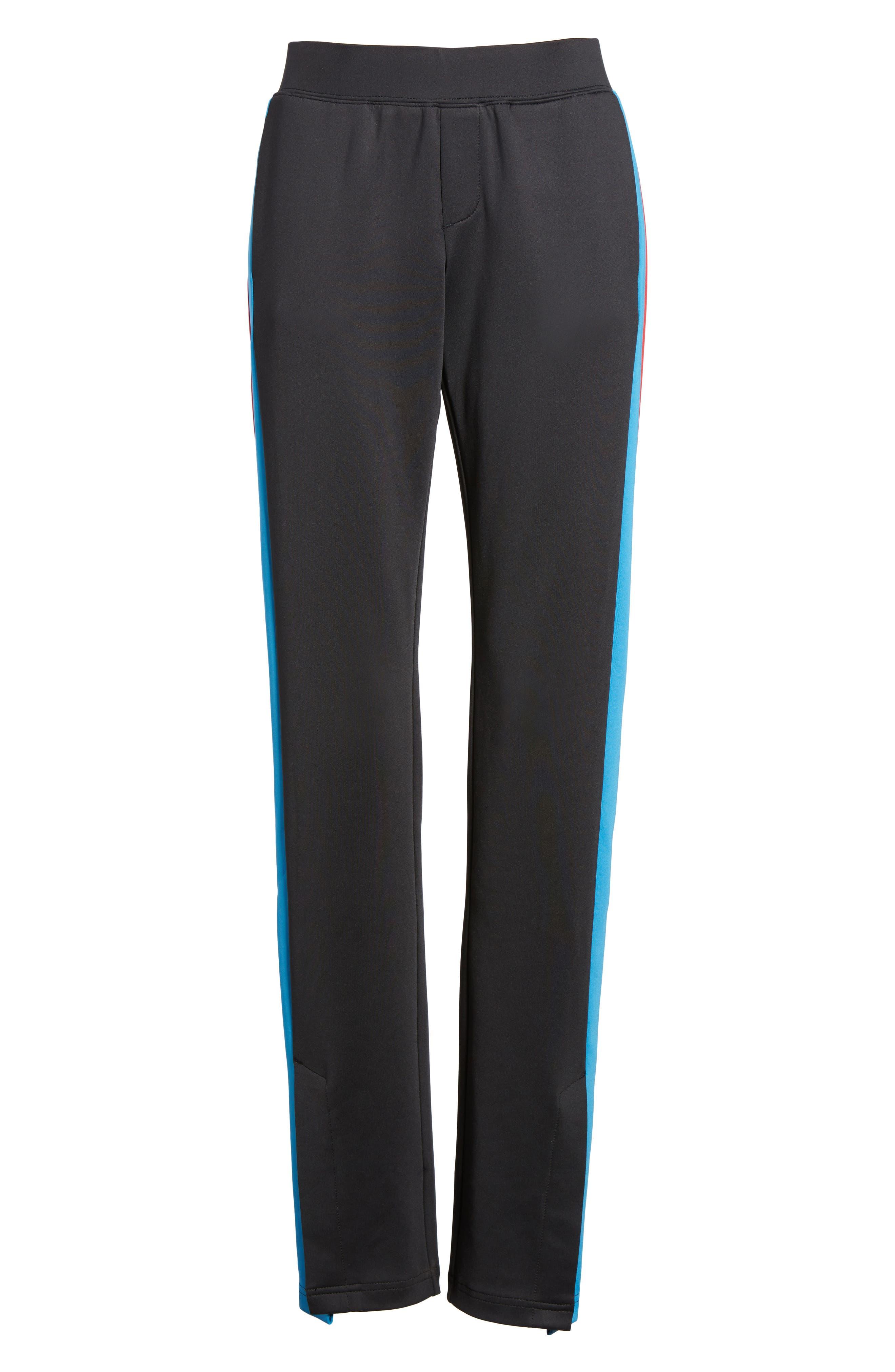 Stripe Track Pants,                             Alternate thumbnail 6, color,                             001