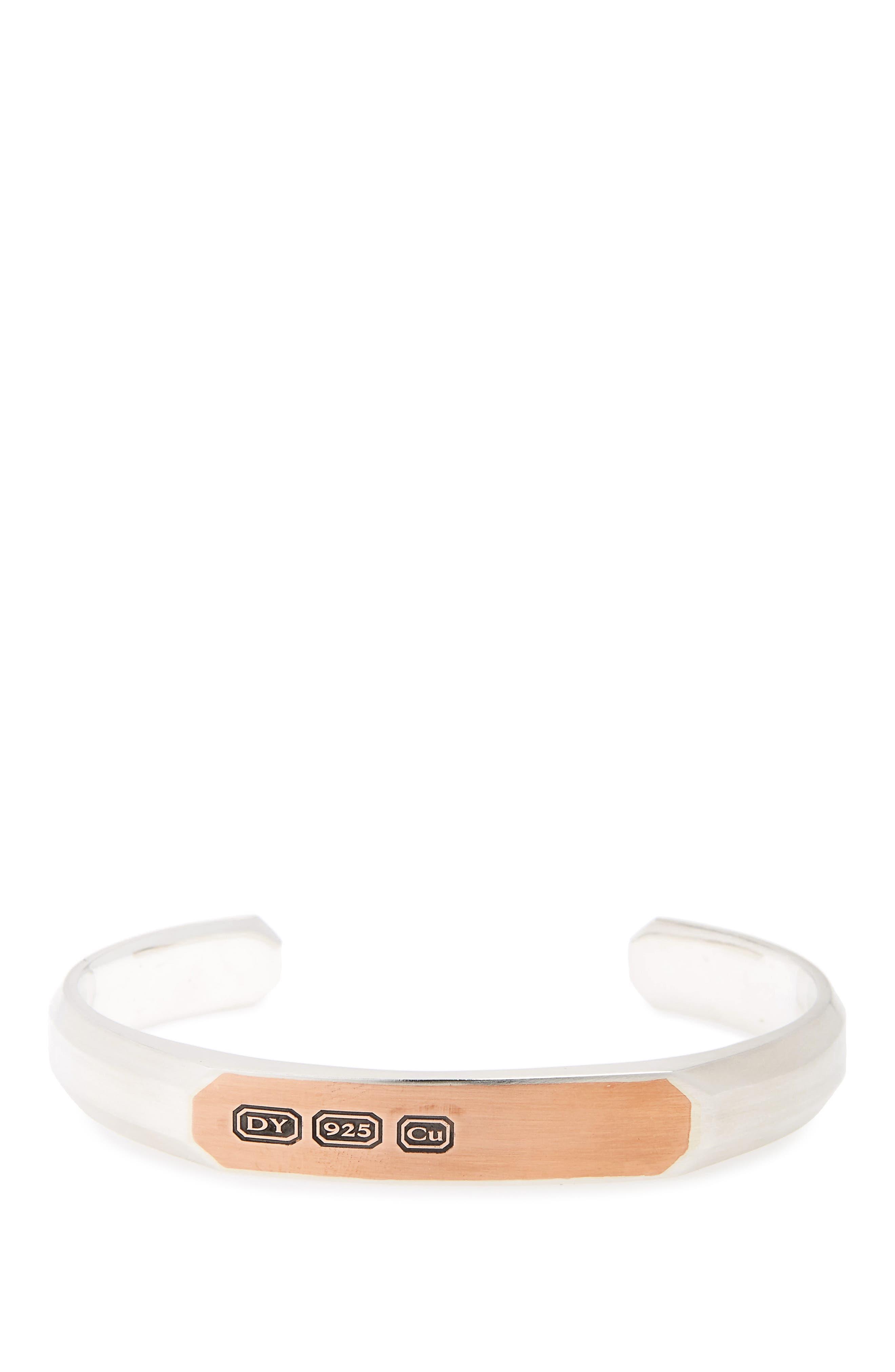Heirloom Streamline Cuff Bracelet,                             Main thumbnail 1, color,                             SILVER/ COPPER