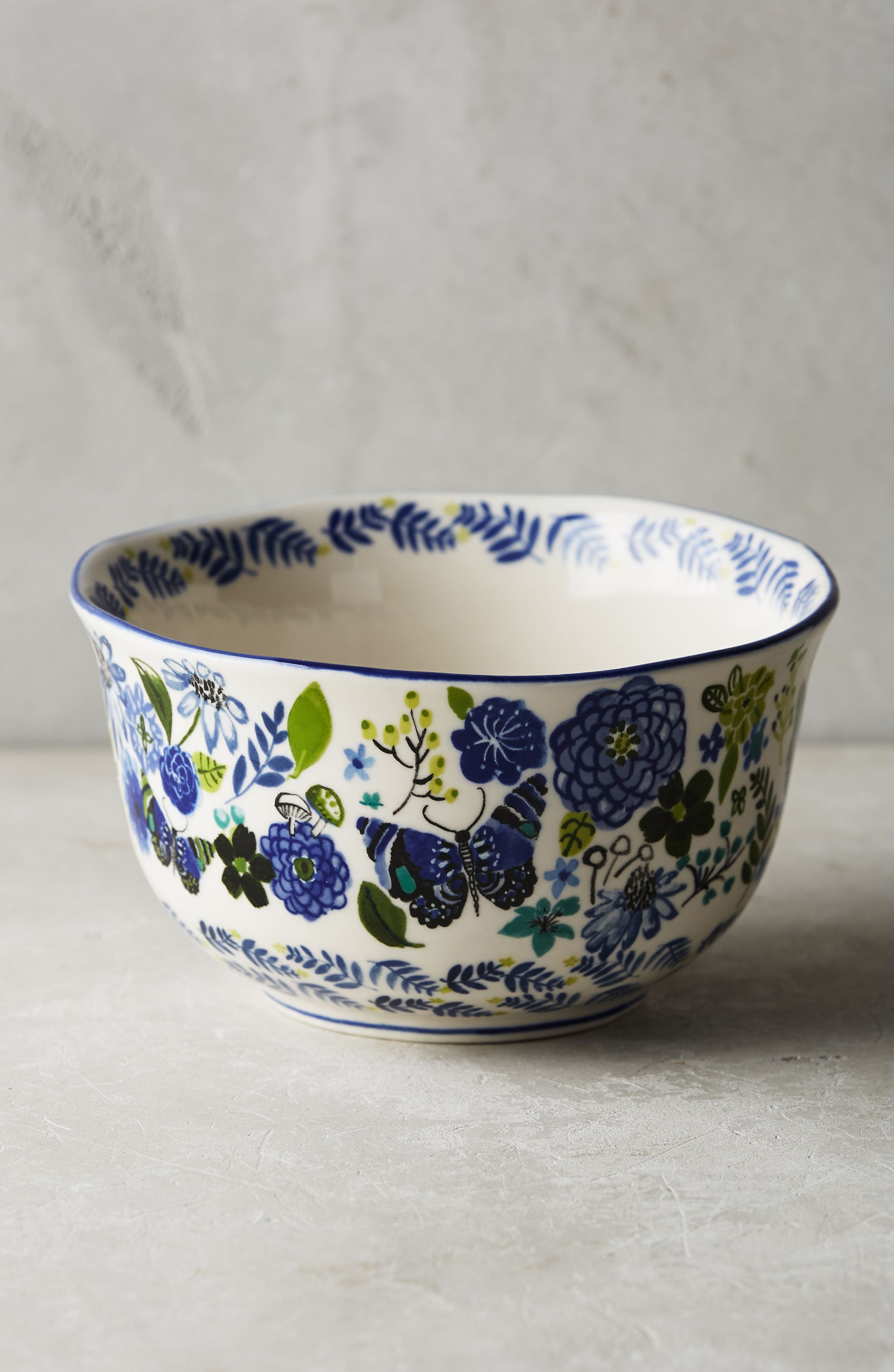 Wing & Petal Stoneware Bowl,                             Alternate thumbnail 2, color,                             400