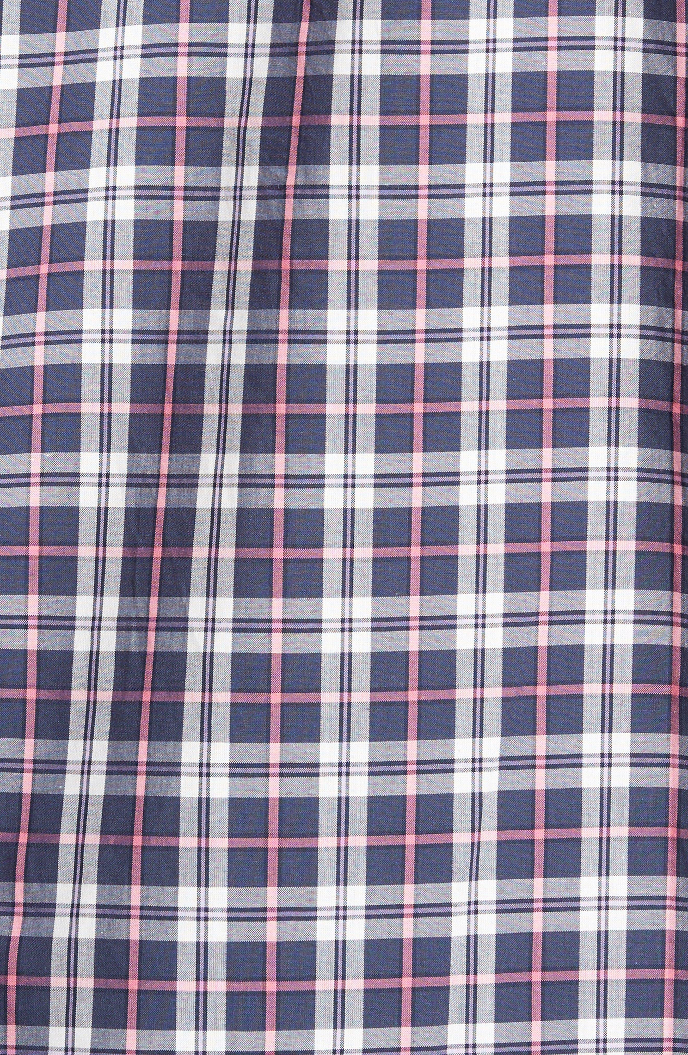 Slim Fit Plaid Sport Shirt,                             Alternate thumbnail 5, color,                             024